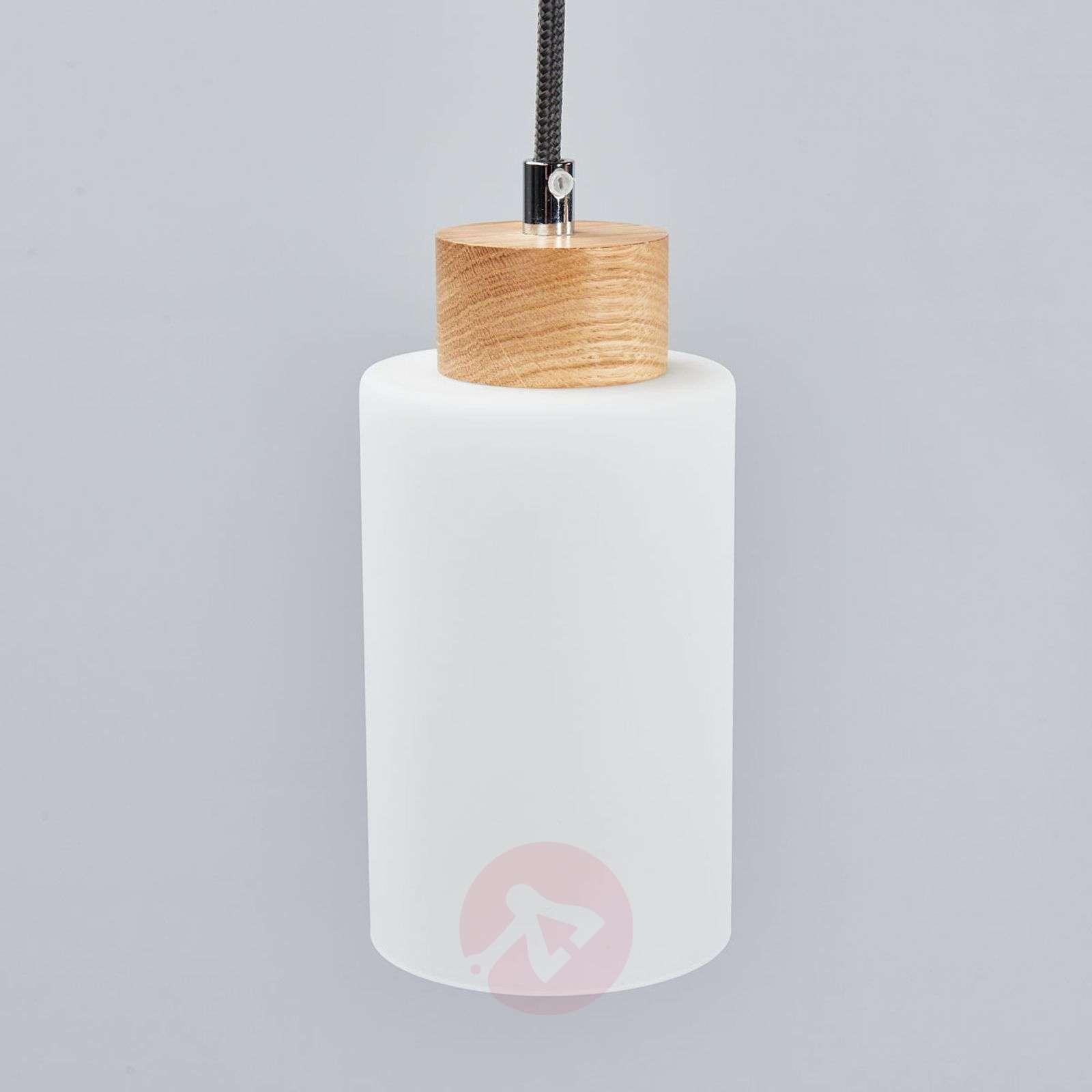 Bosco linear pendant light, oiled oak, 3-bulb-8574280-01