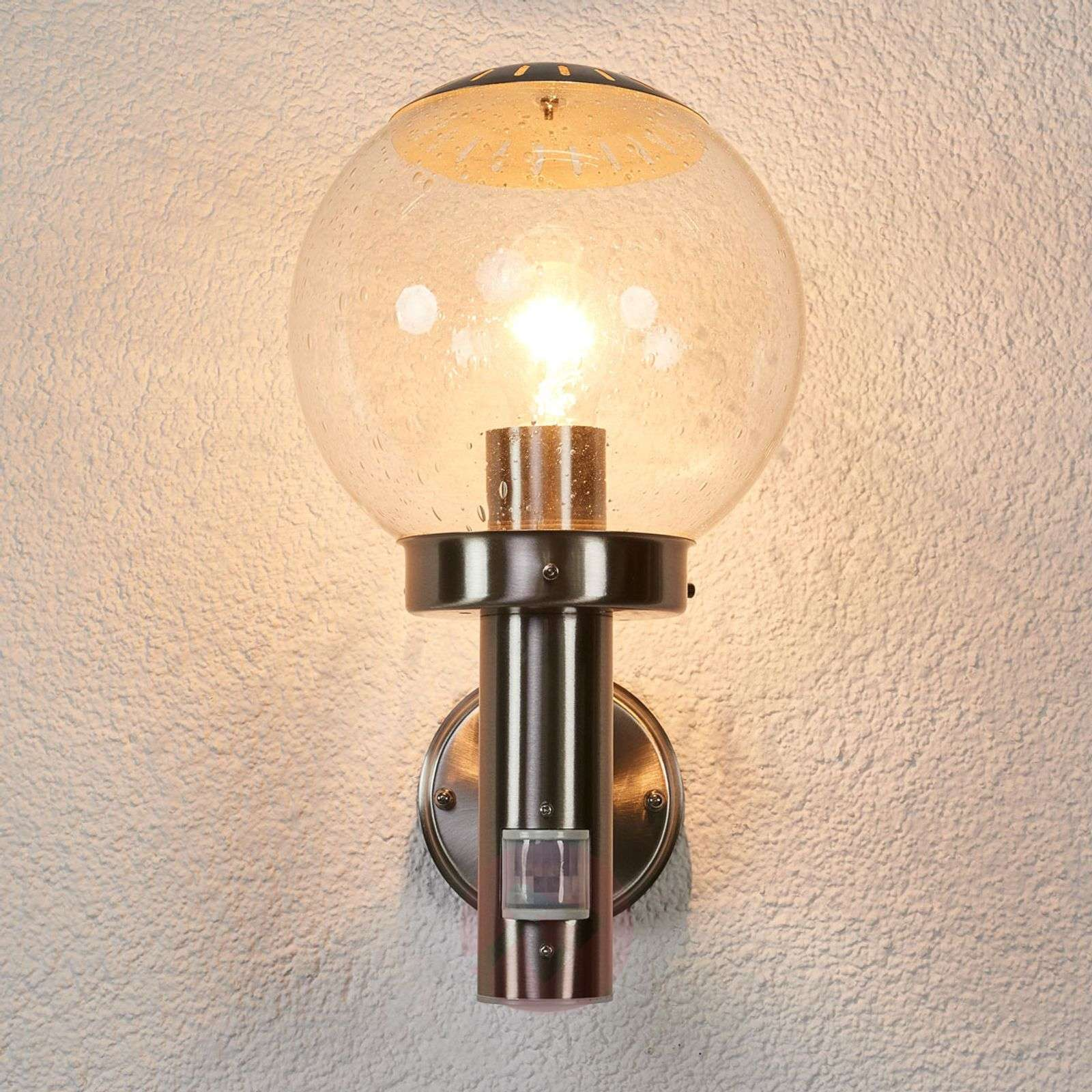 Bowle Exterior Wall Lamp with Motion Detector-4014262-04