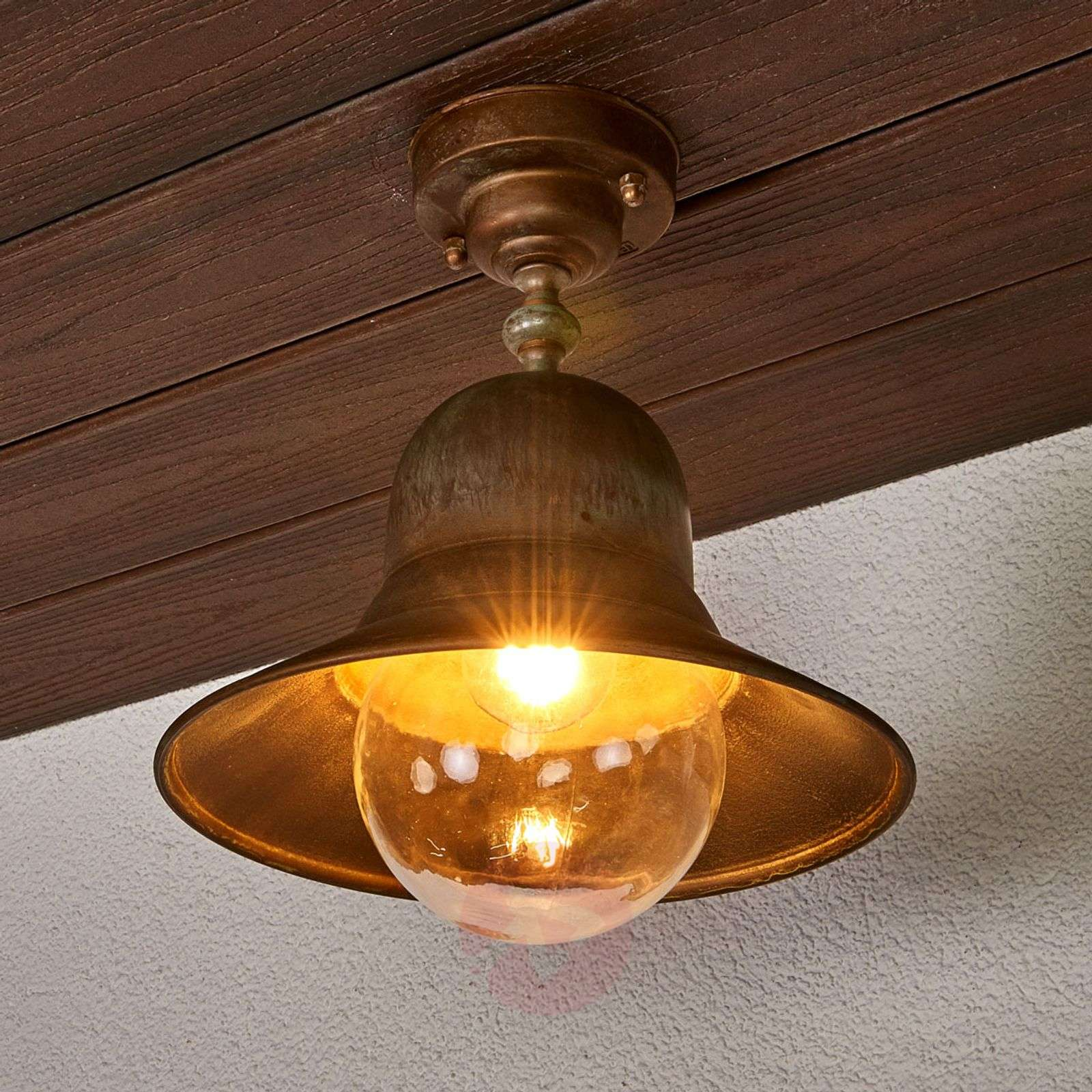Brass ceiling light Marquesa for outdoors-6515263-01
