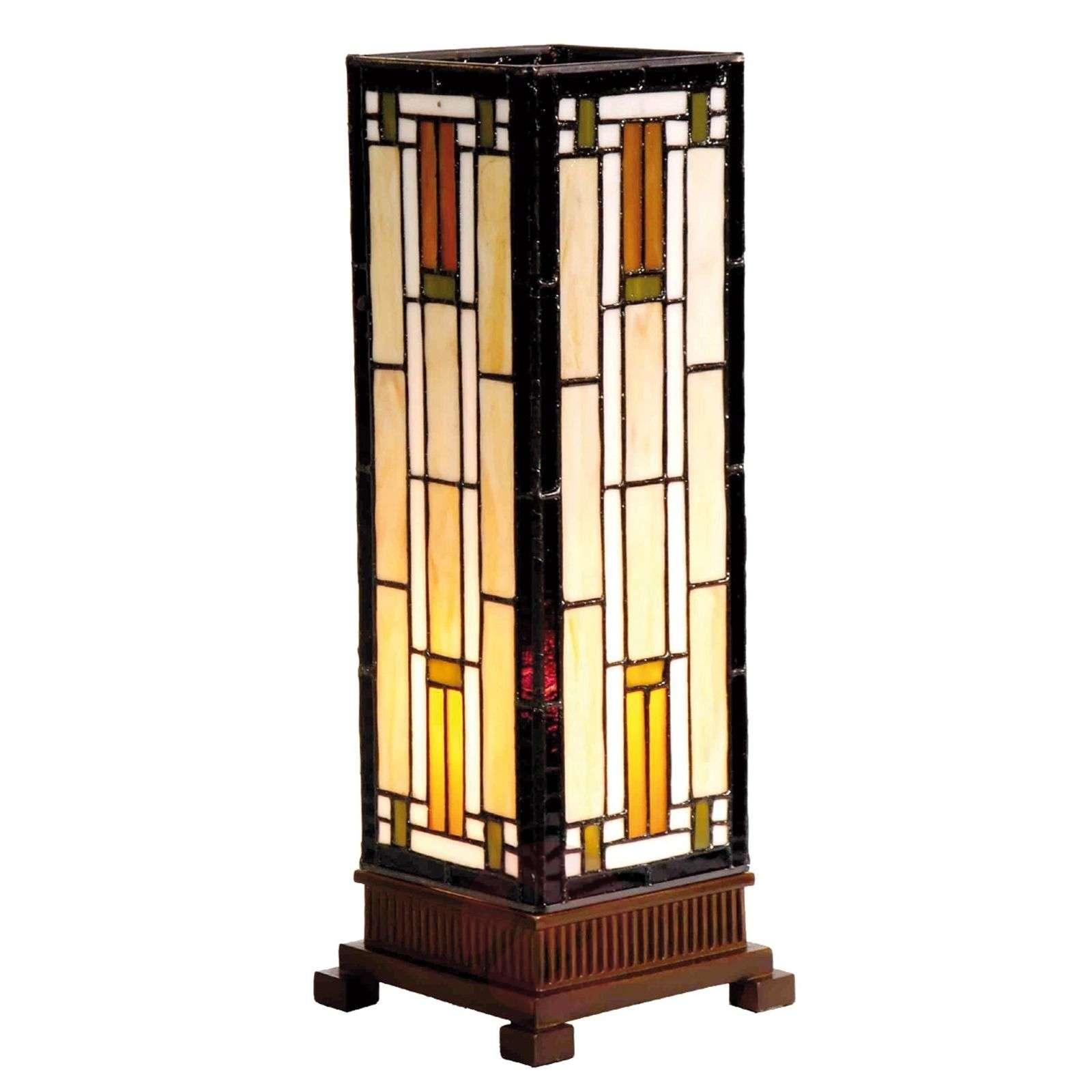 Bridget a table lamp in cream and amber-6064097-01