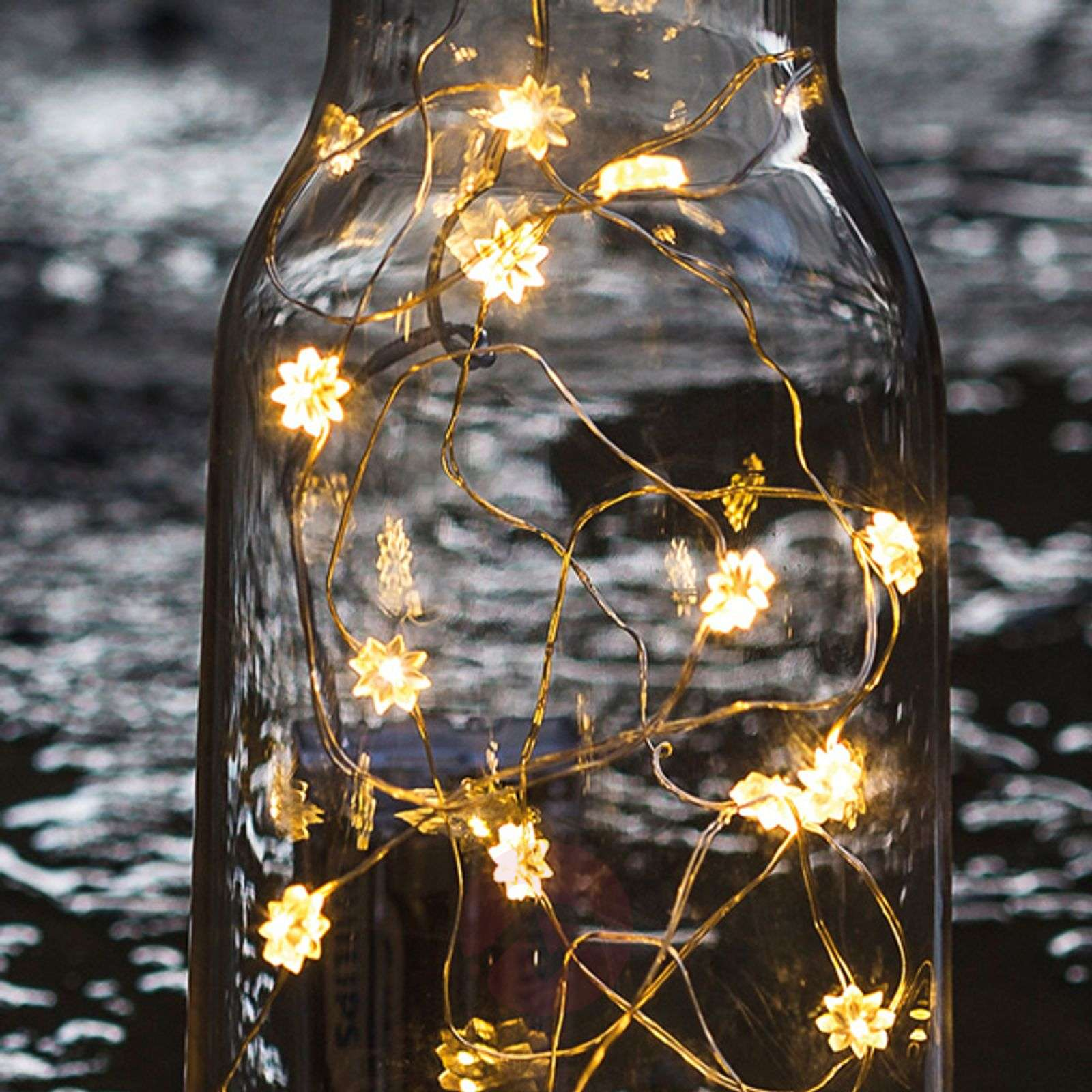 Bright LED flower string lights Silke, 20 bulbs-8577045-01