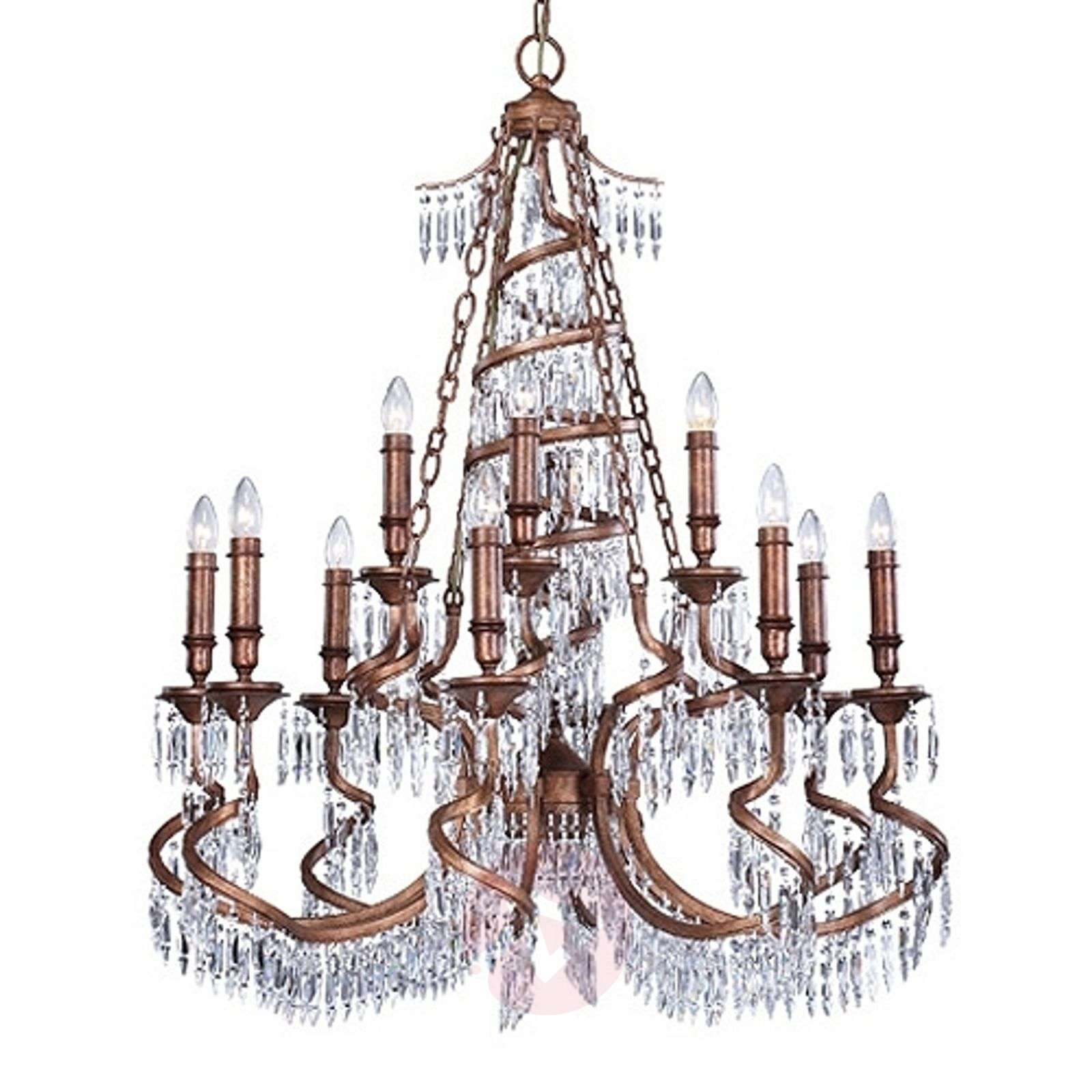 Bronze coloured chandelier twisted lights bronze coloured chandelier twisted 8532207 01 aloadofball Images