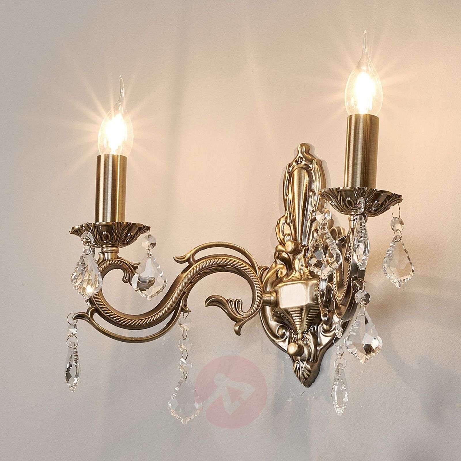 Bronze Kora wall light, with two bulbs-9973008-01