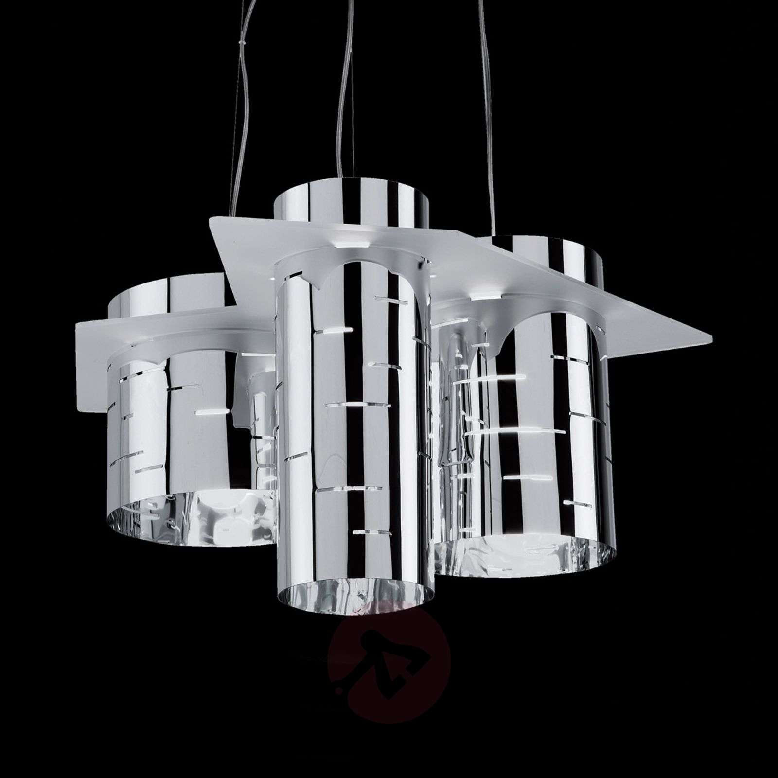 Brothers three-cylinder hanging light, chrome-1056029-01