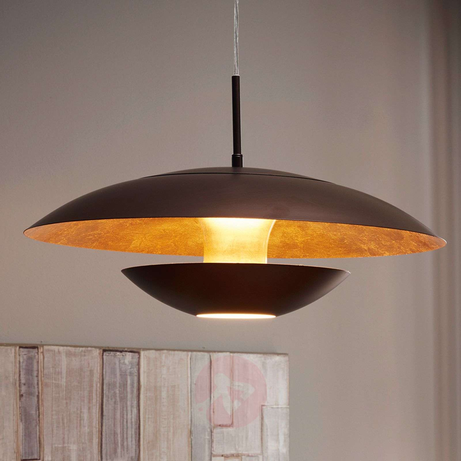 Brown-gold-painted hanging light Nuvano-3031942-01