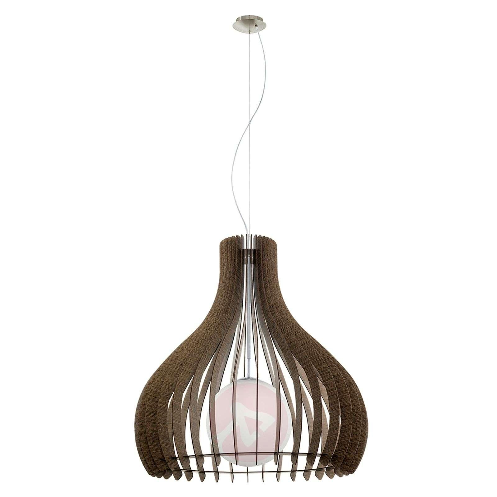 Brown Tindori hanging light with wooden slats-3031823-01