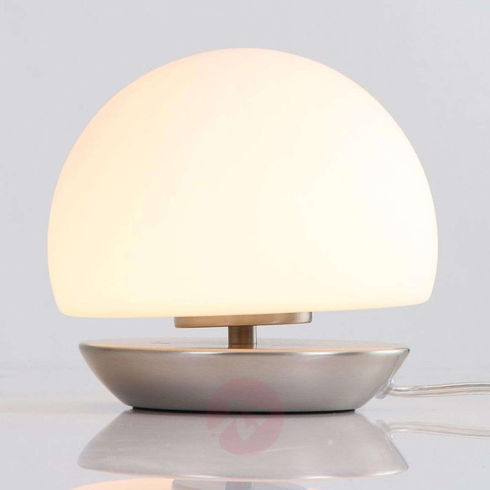 Brushed steel base LED table lamp Ancilla-8509743-01