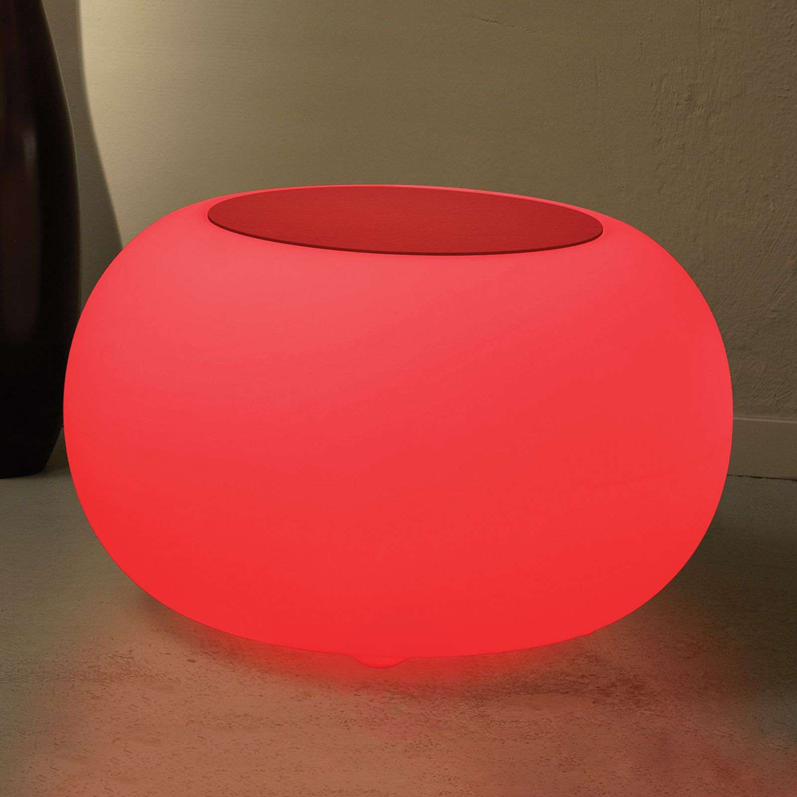 Bubble LED BATTERY Outdoor Table red felt cover-6537085-01