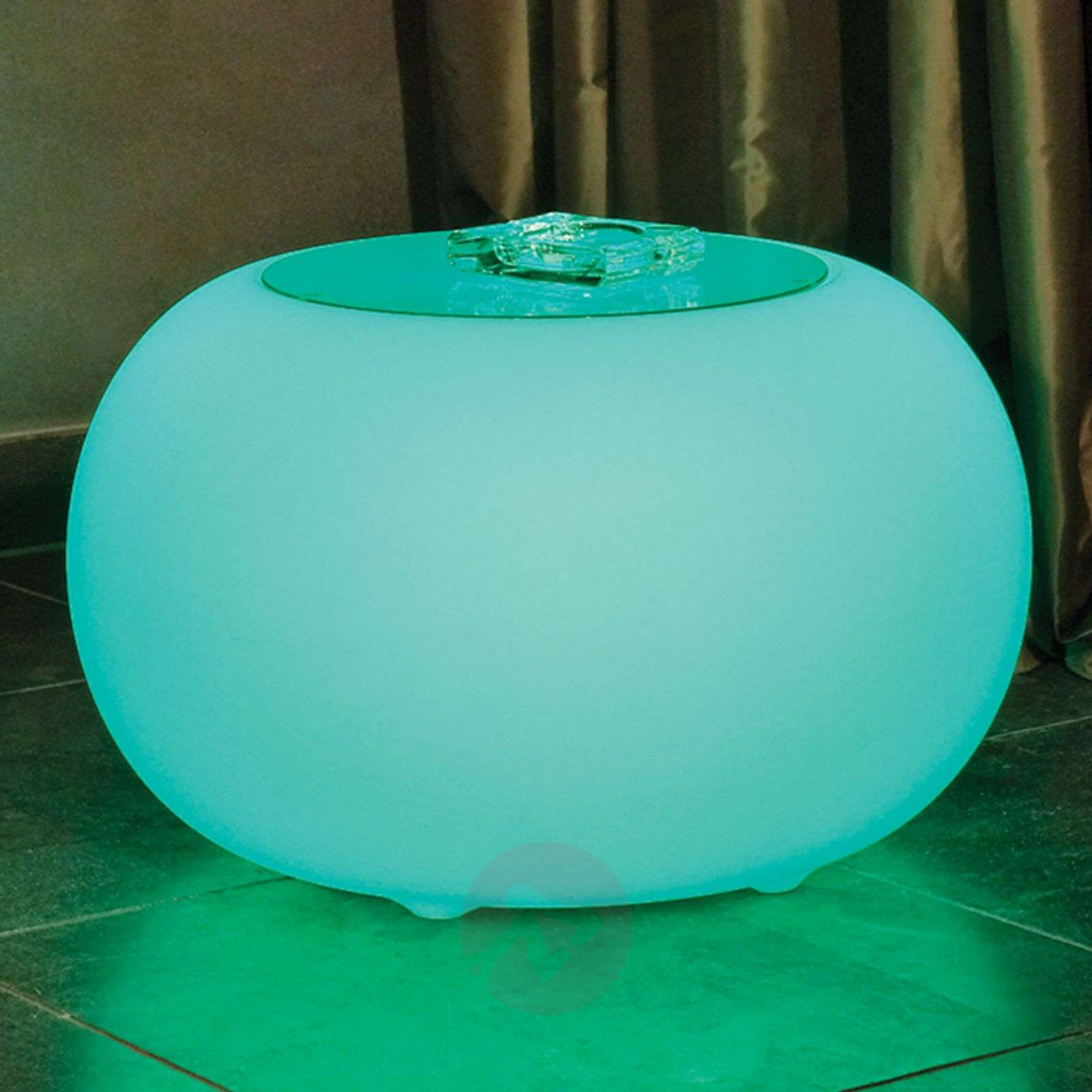 Bubble LED BATTERY Outdoor table with glass panel-6537083-01