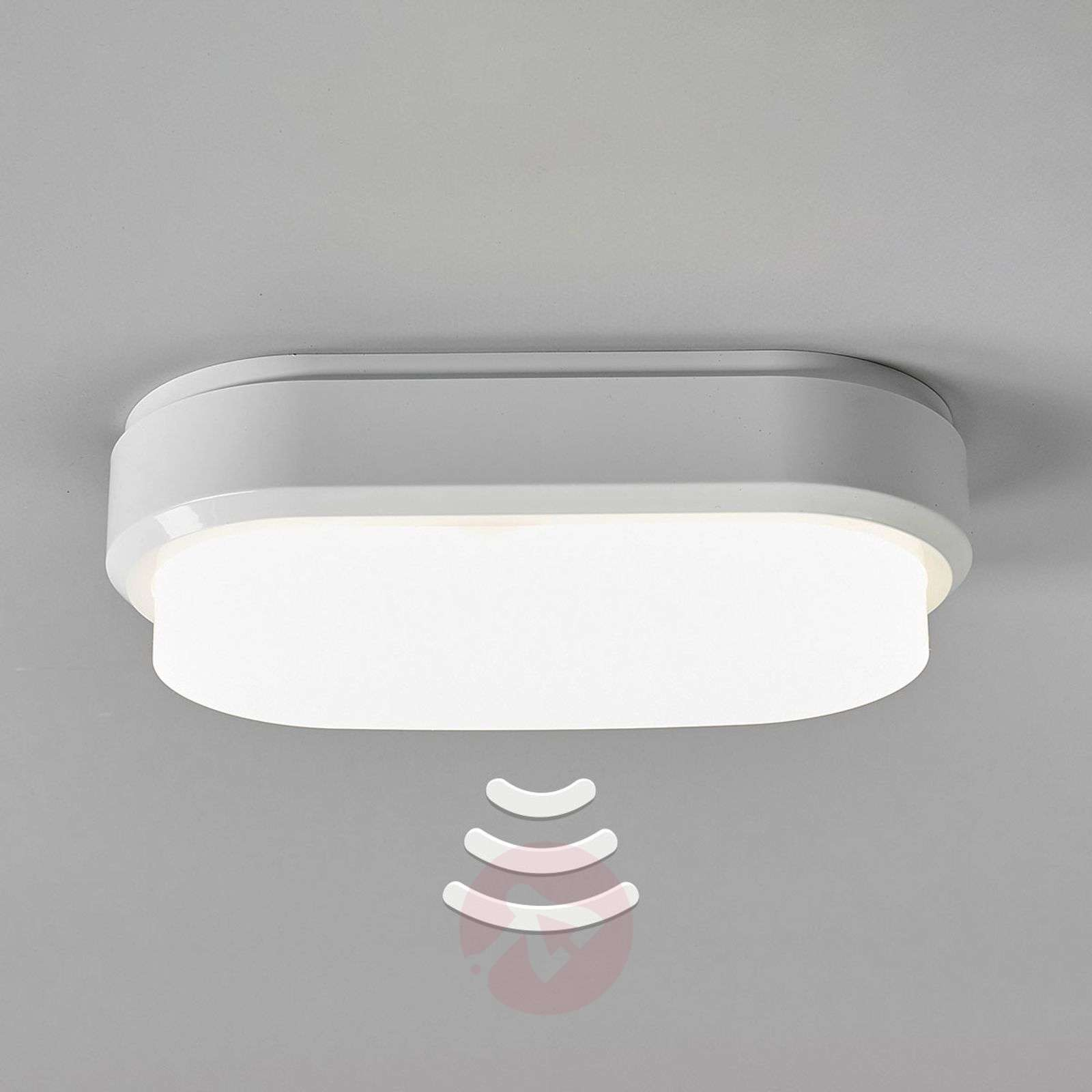 Bulkhead oval led ceiling lamp with sensor lights bulkhead oval led ceiling lamp with sensor 8559217 01 mozeypictures Gallery