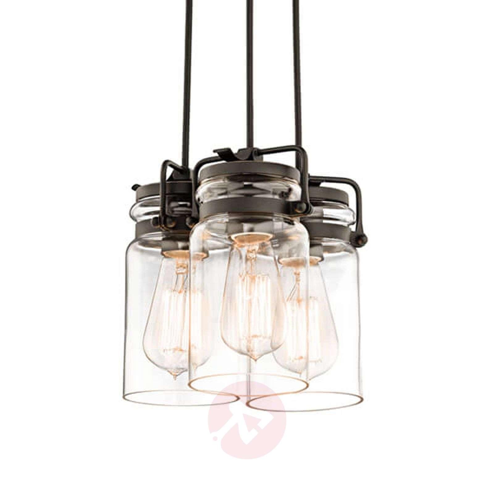 Bundled pendant light Brinley three-bulb-3048600-01