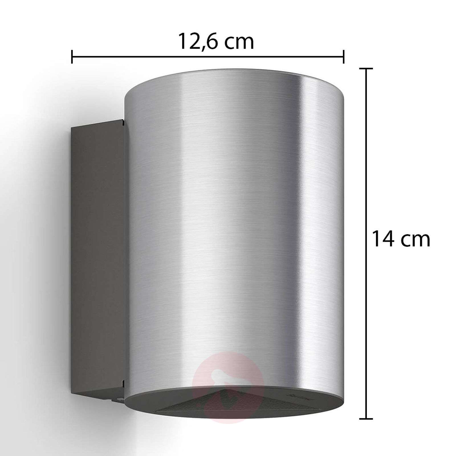 Buxus LED outdoor wall lamp, stainless steel-7531924-012