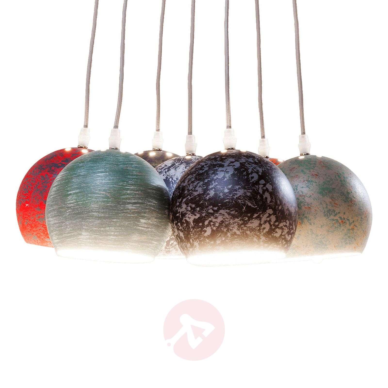 Calotta Antico colourful pendant lamp, 7-bulb-5517432-07