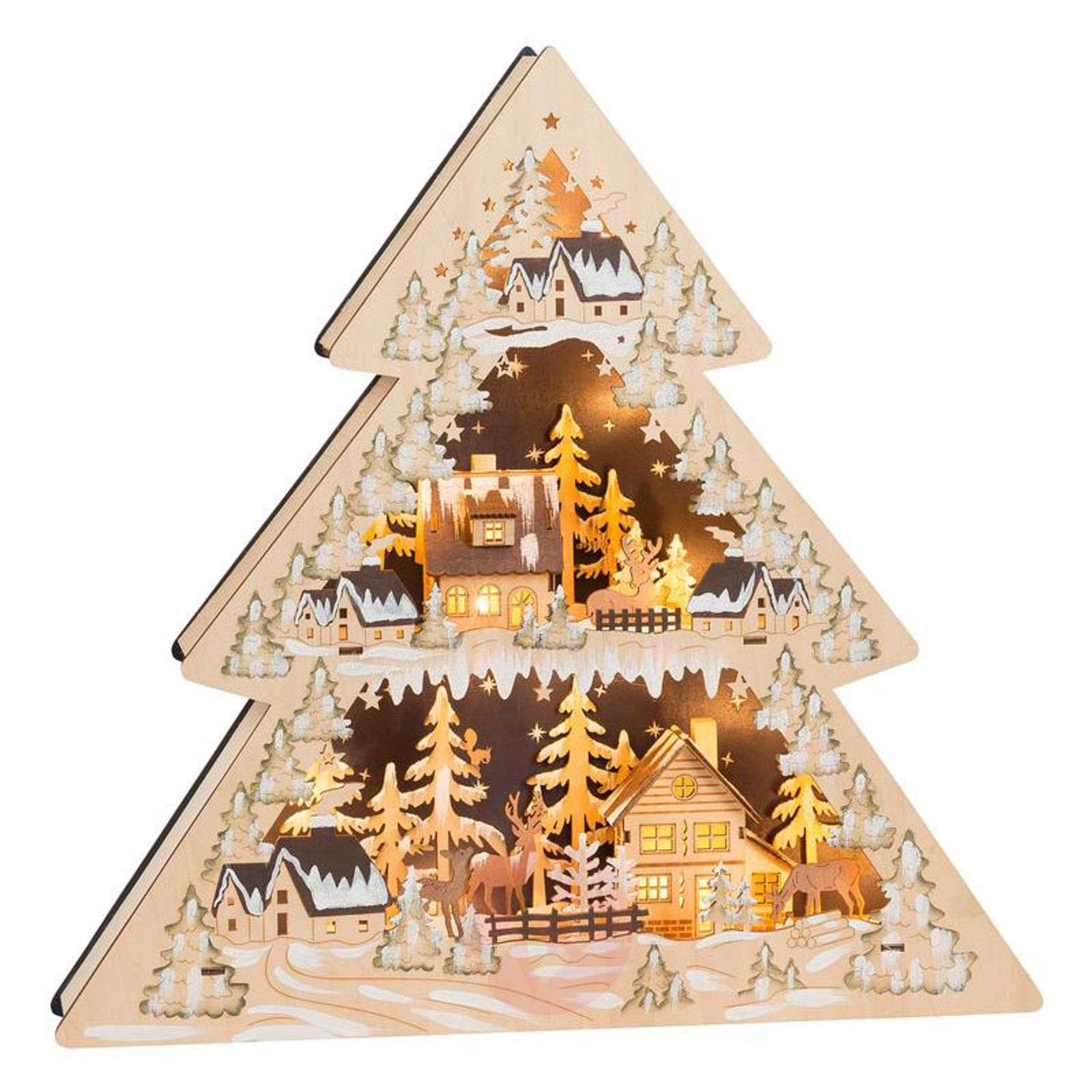 Candle arch triangle Winter Village LED-8501230-01