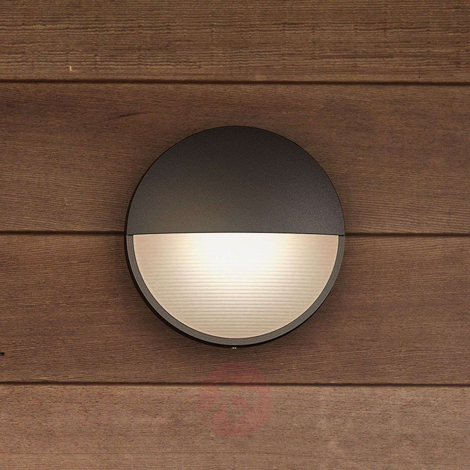 Capricorn anthracite-coloured LED wall light, IP44-7531784-02
