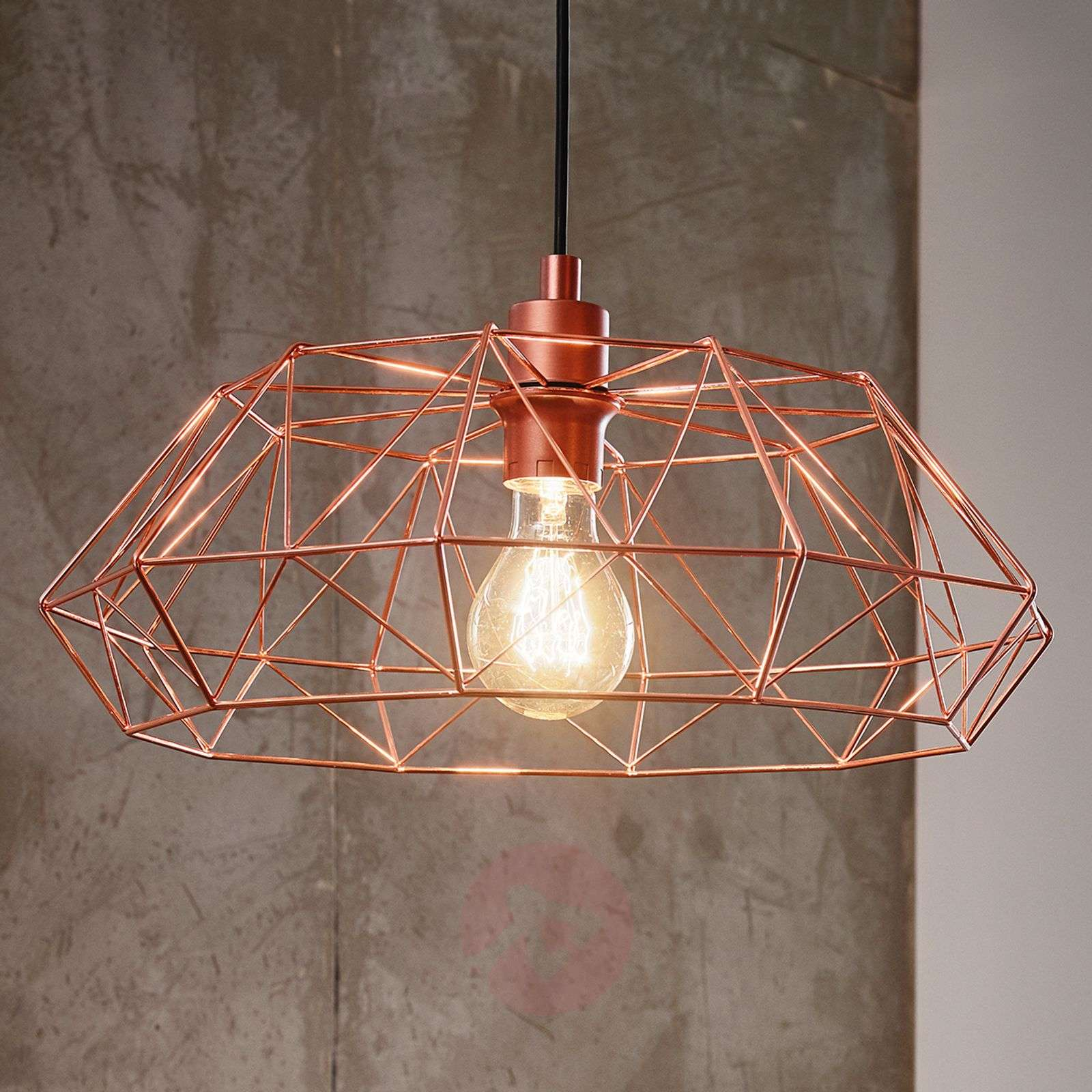 Carlton 2 hanging light in copper grid lampshade-3031868-01
