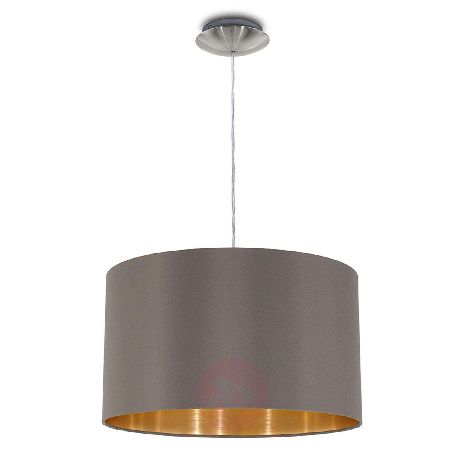 Carpi hanging light with a fabric lampshade-3031701-01