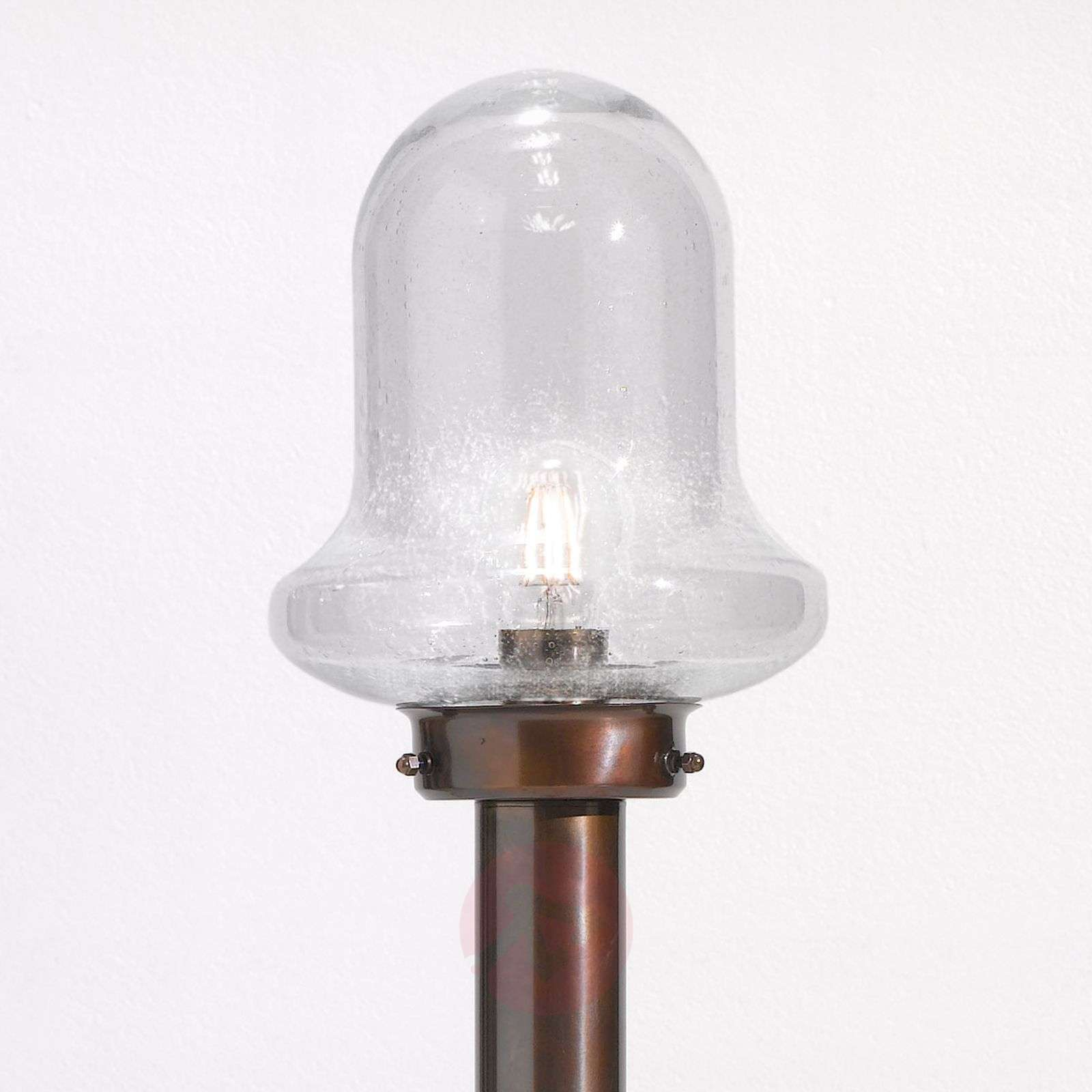 Casale burnished path light with clear glass-2008253-01