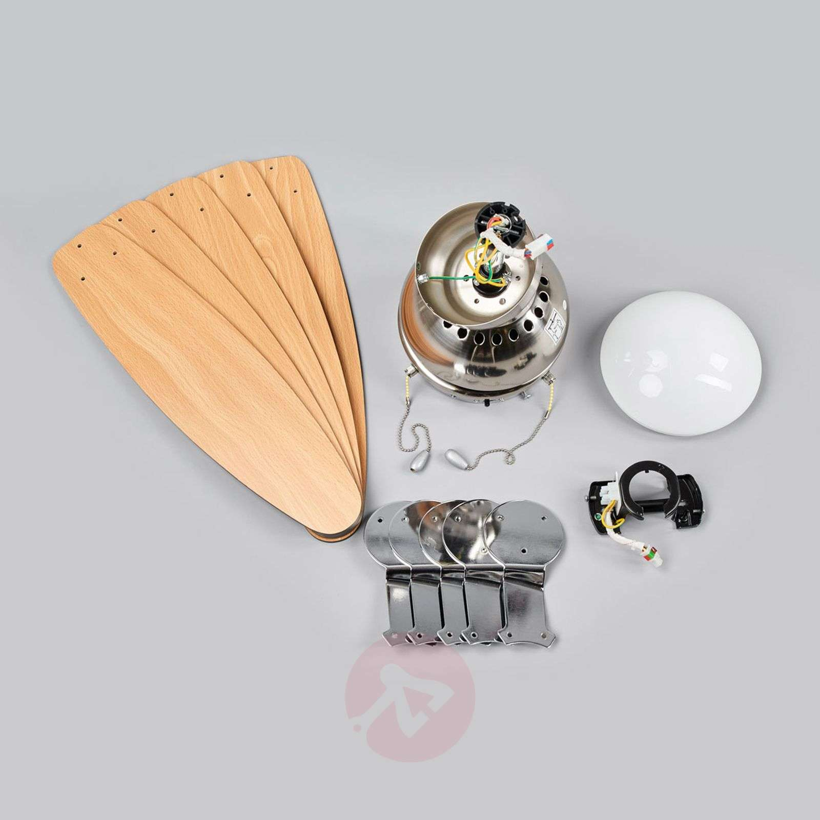 Ceiling fan Levian with light-4018098-017