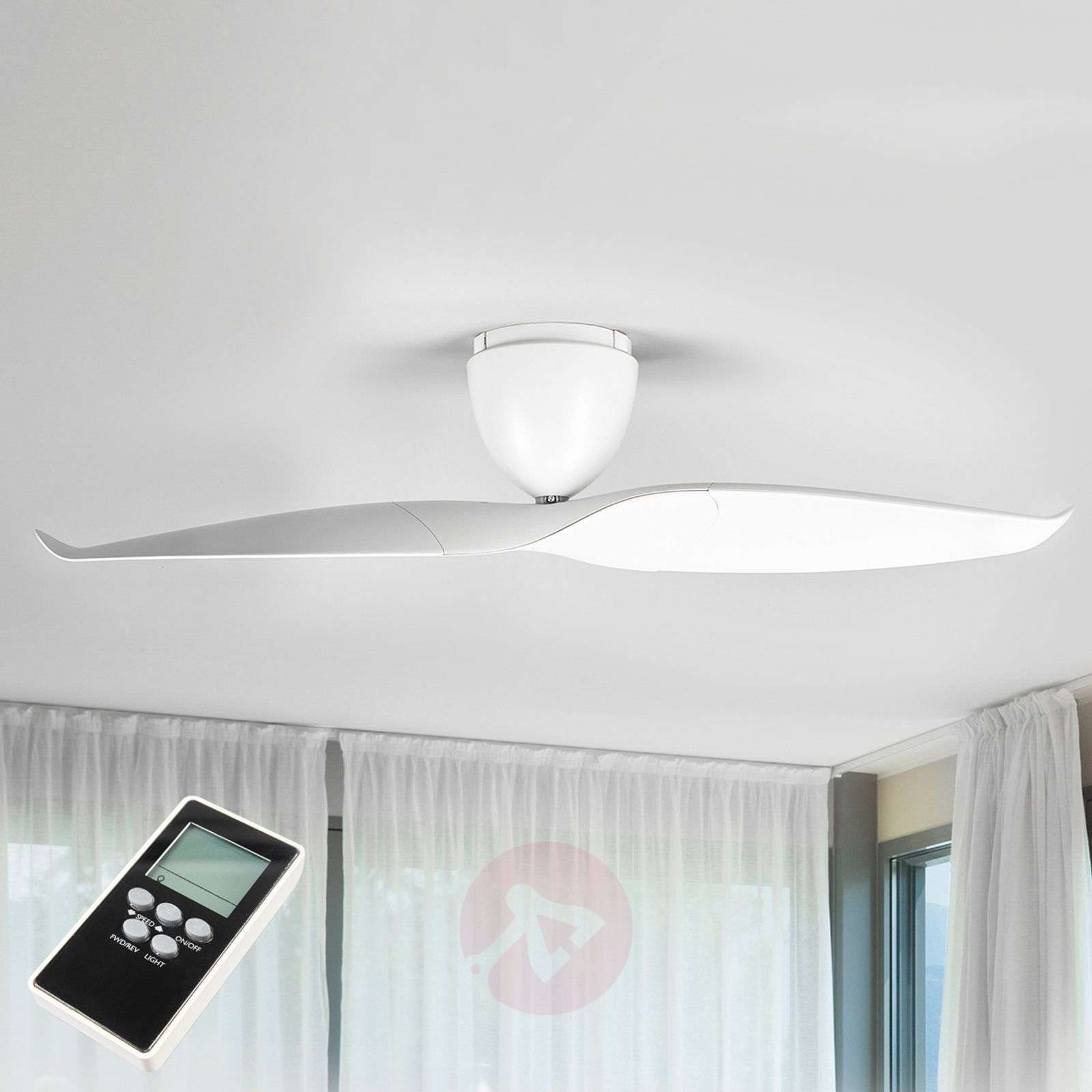 Ceiling fan Wave, white, 126 cm-1068007-04