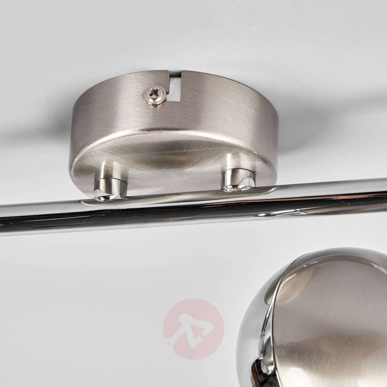 Ceiling lamp Arvin in nickel and chrome, LED-9970117-03