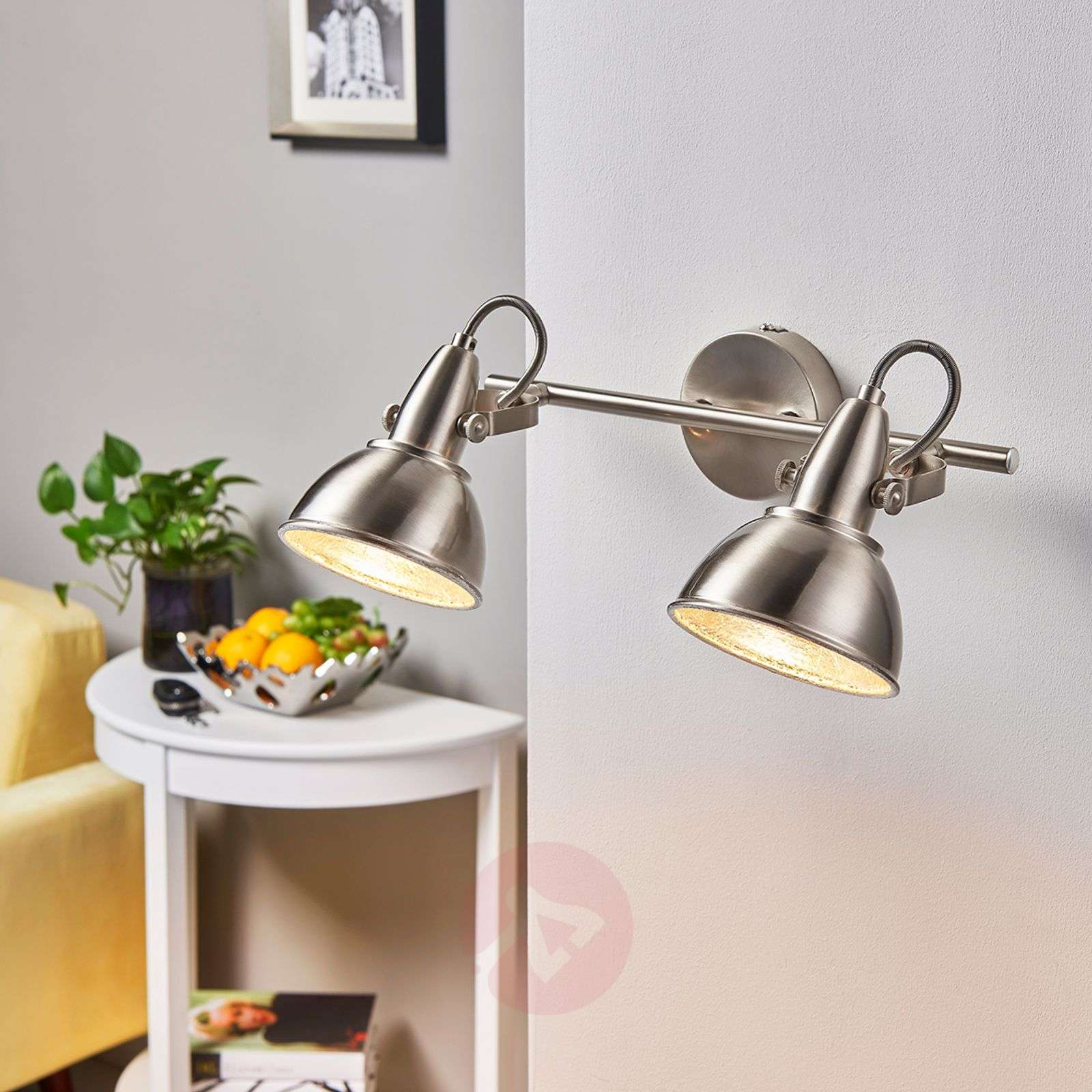 Ceiling lamp Julin with two lampshades-9620729-03