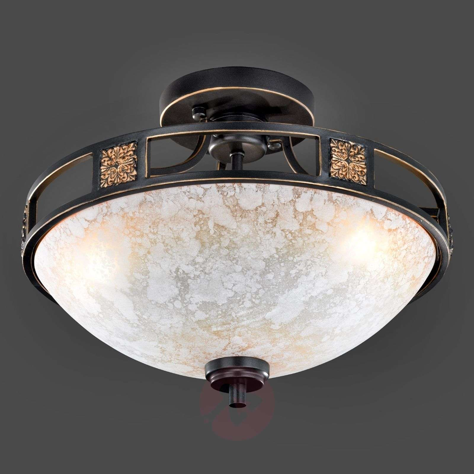 Ceiling light Caecilia with antique design, 42 cm-9004427-01