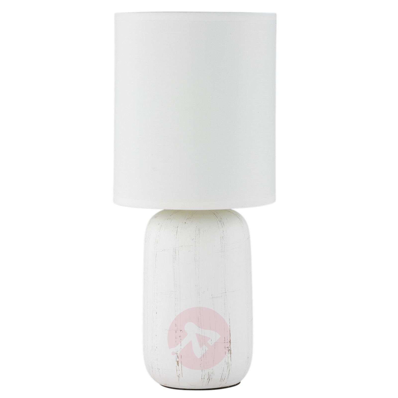 Ceramic table lamp Clay with fabric lampshade-8029185-01