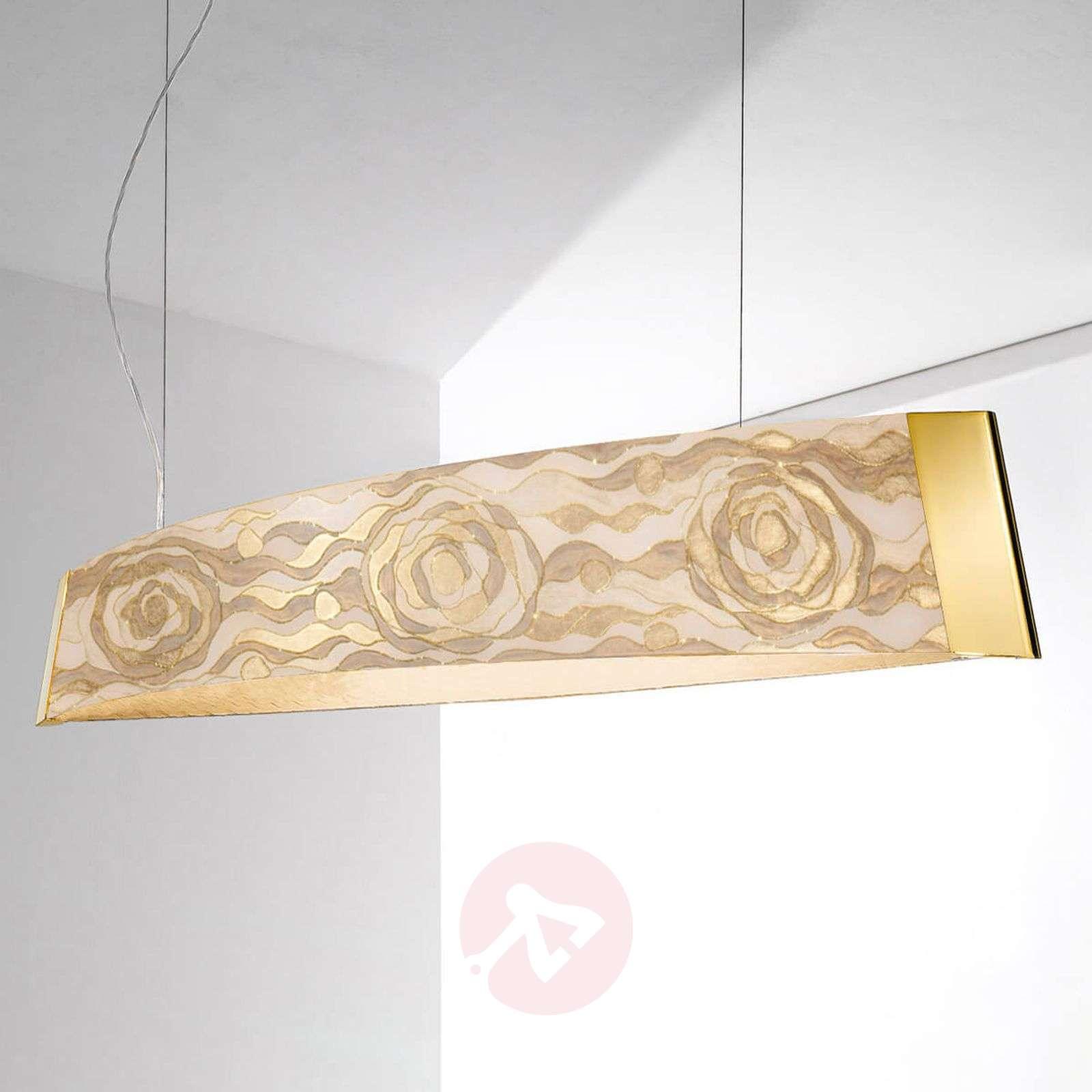 Champagne-coloured LED pendant light Barca-5560455-01
