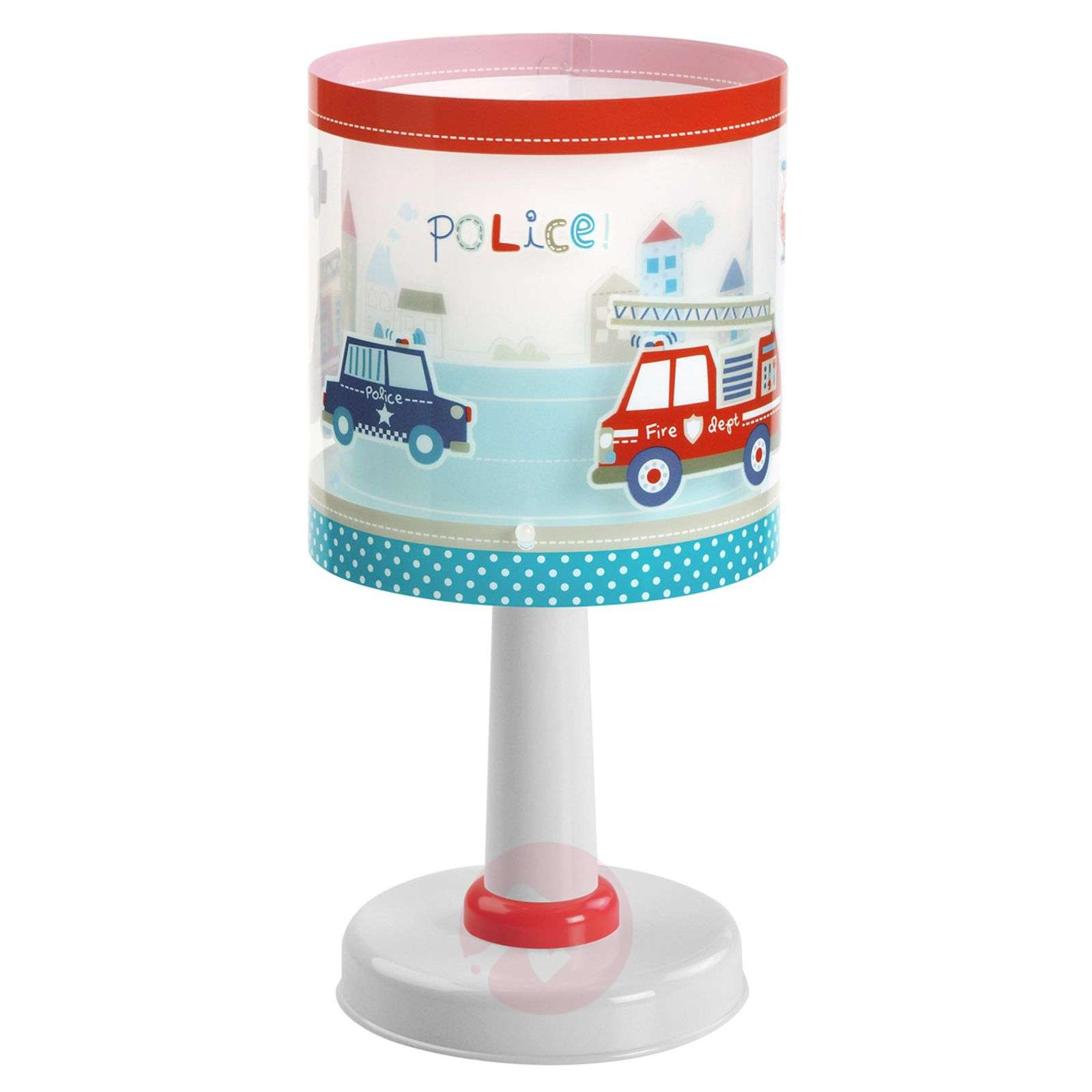 Childrens table lamp Police with motif-2507370-01