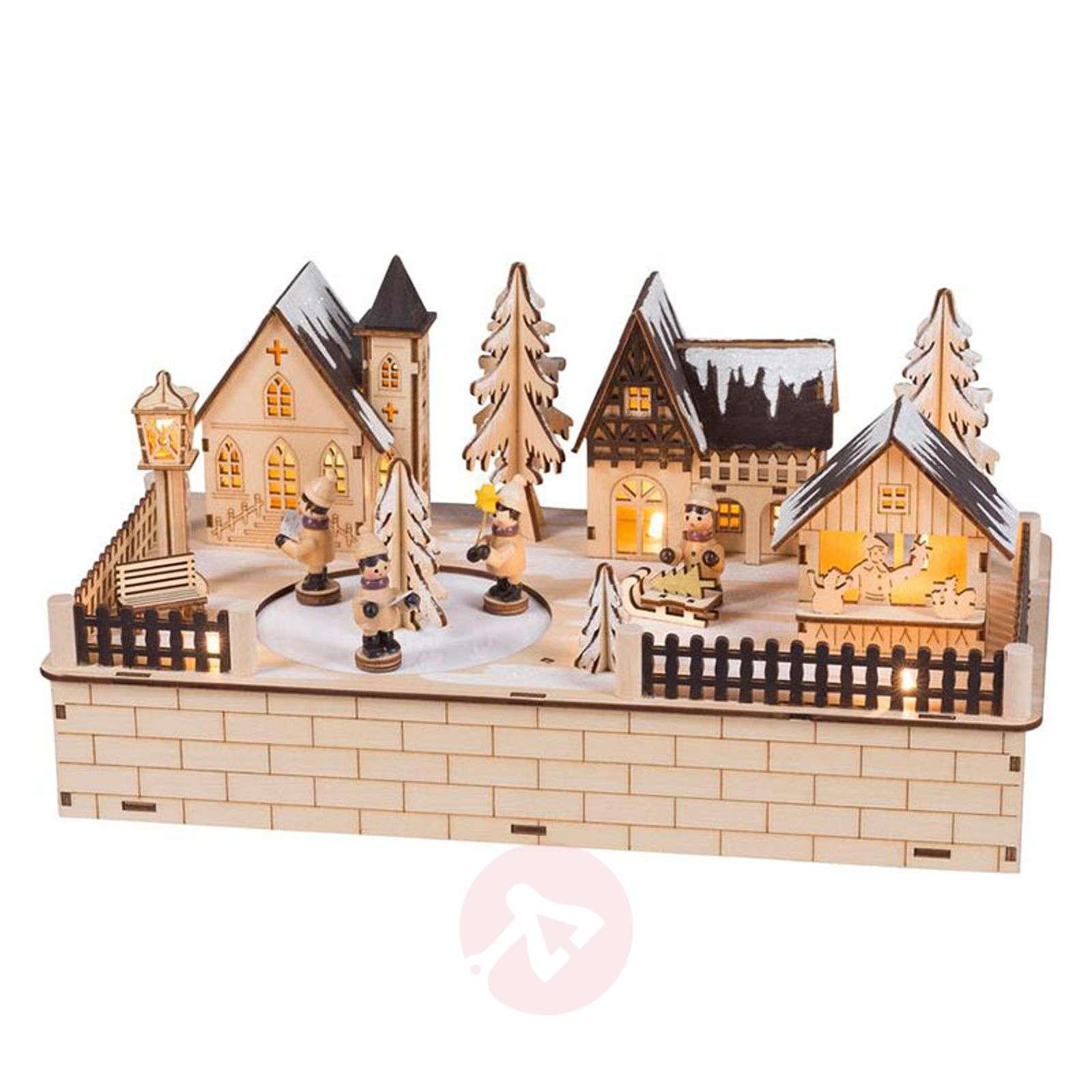 Christmas Village LED Schwibbogen rotating figures-8501226-01