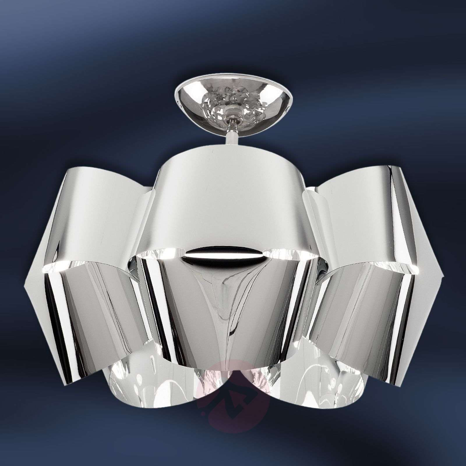 Chrome-coloured ceiling light Sky Mini Alien_1056075_1