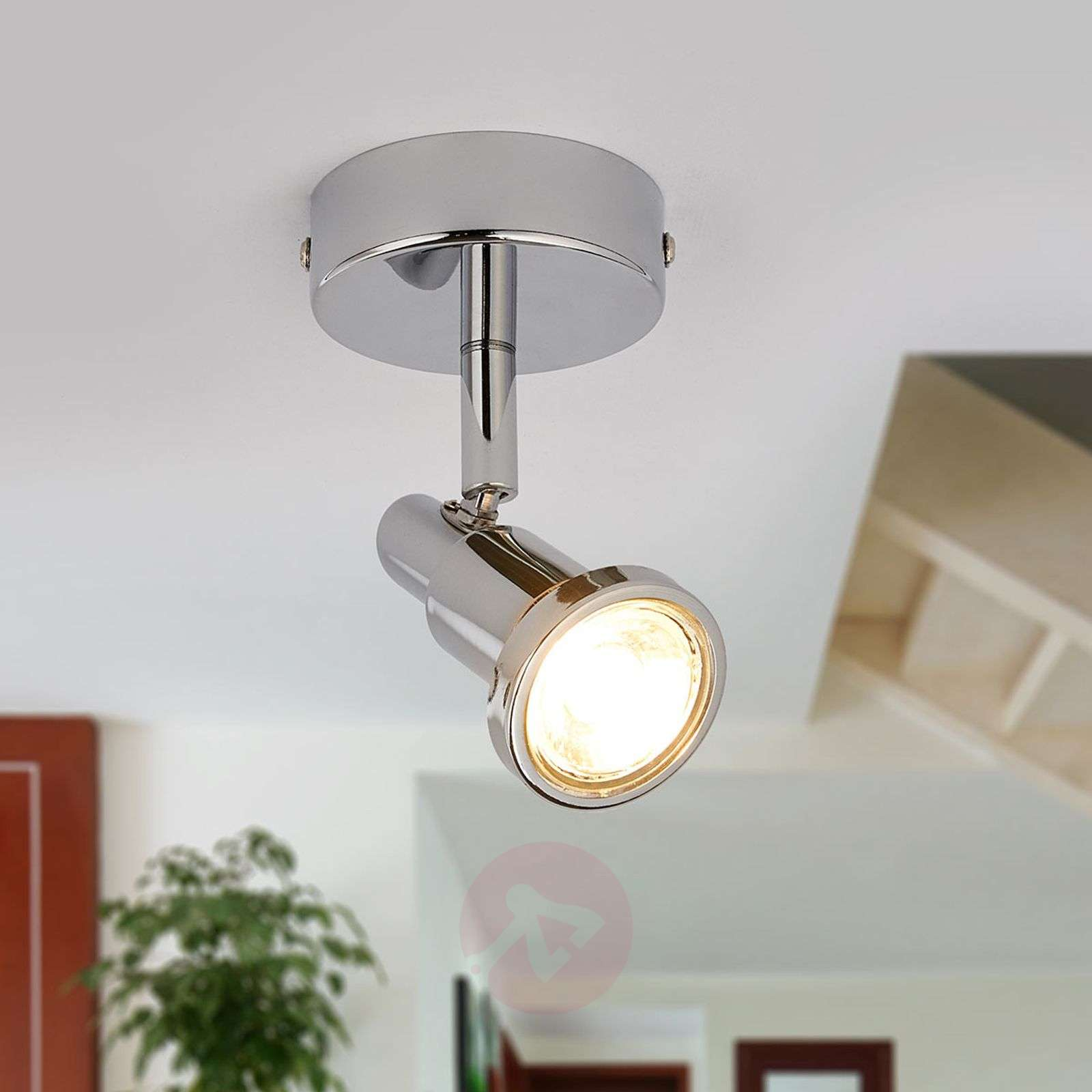 Chrome-plated LED spotlight Thom, GU10-9954011-02
