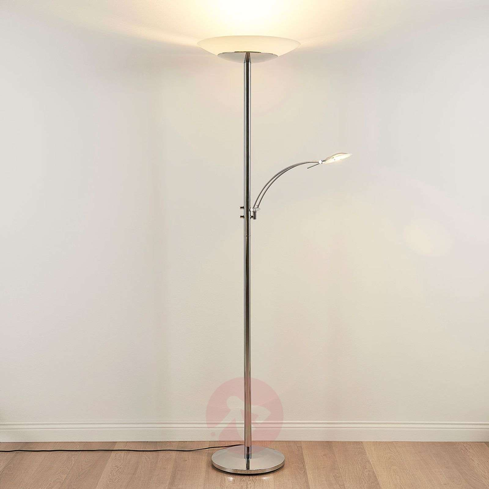 Chrome-plated LED uplighter Ilinca with dimmer-9621477-010