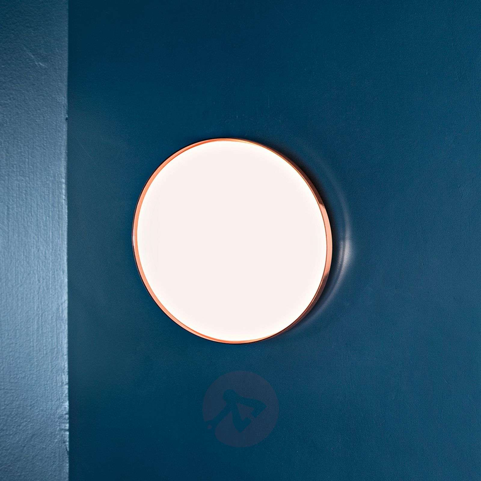 clara flat led ceiling light with a copper ring. Black Bedroom Furniture Sets. Home Design Ideas