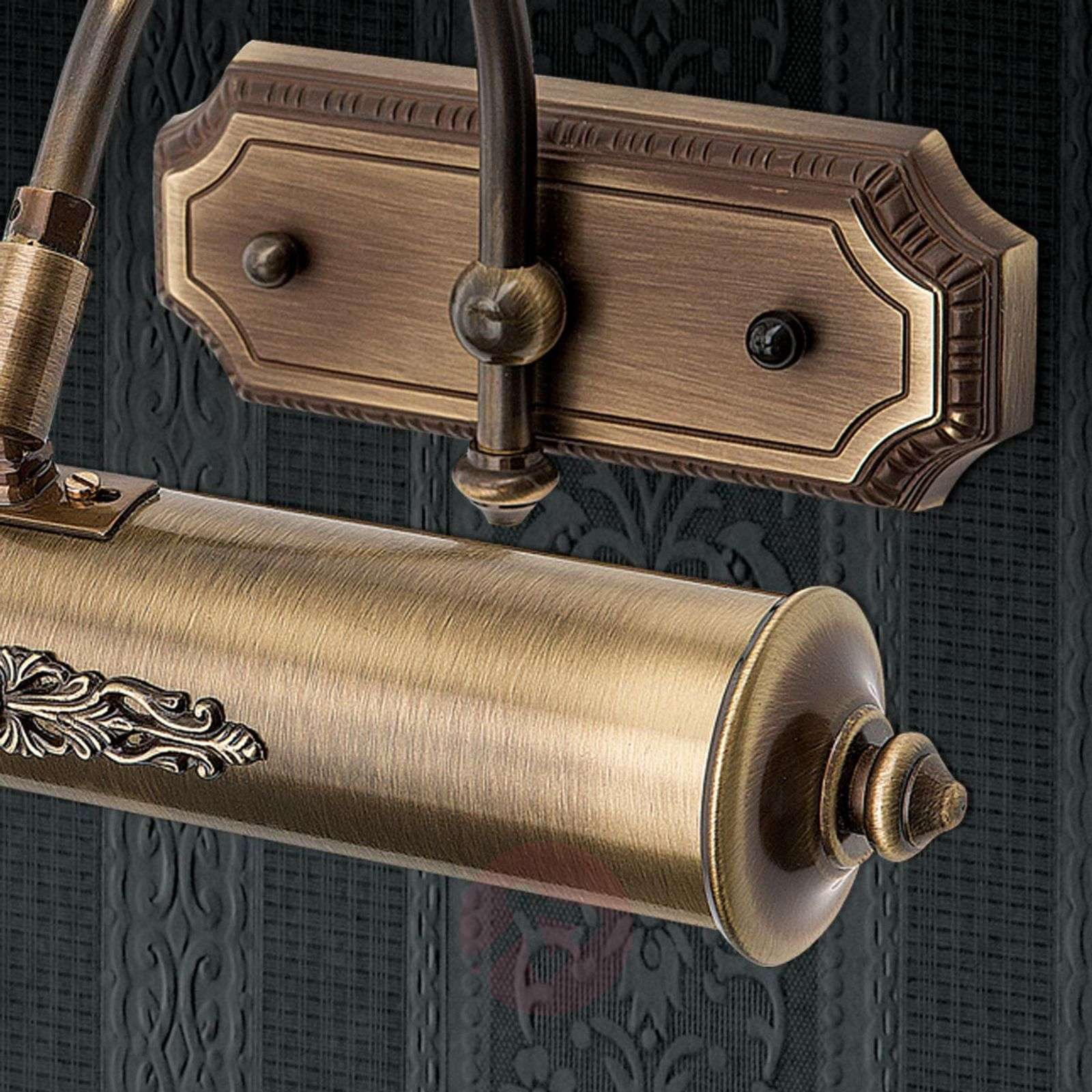 Classic antique brass picture light Gustav, 30cm-7255210-01