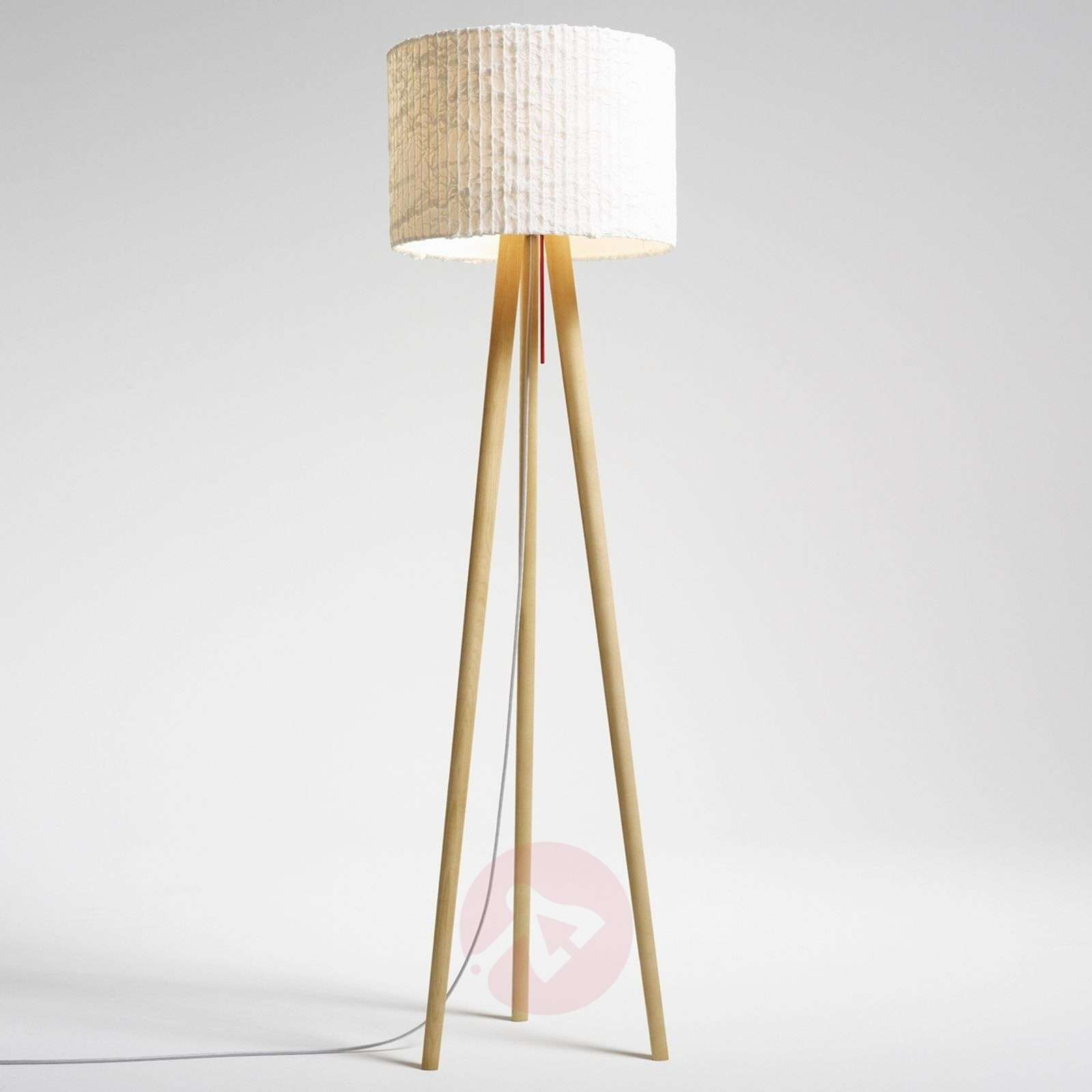 Classic floor lamp Sten Cloud, white oak-2600466X-01
