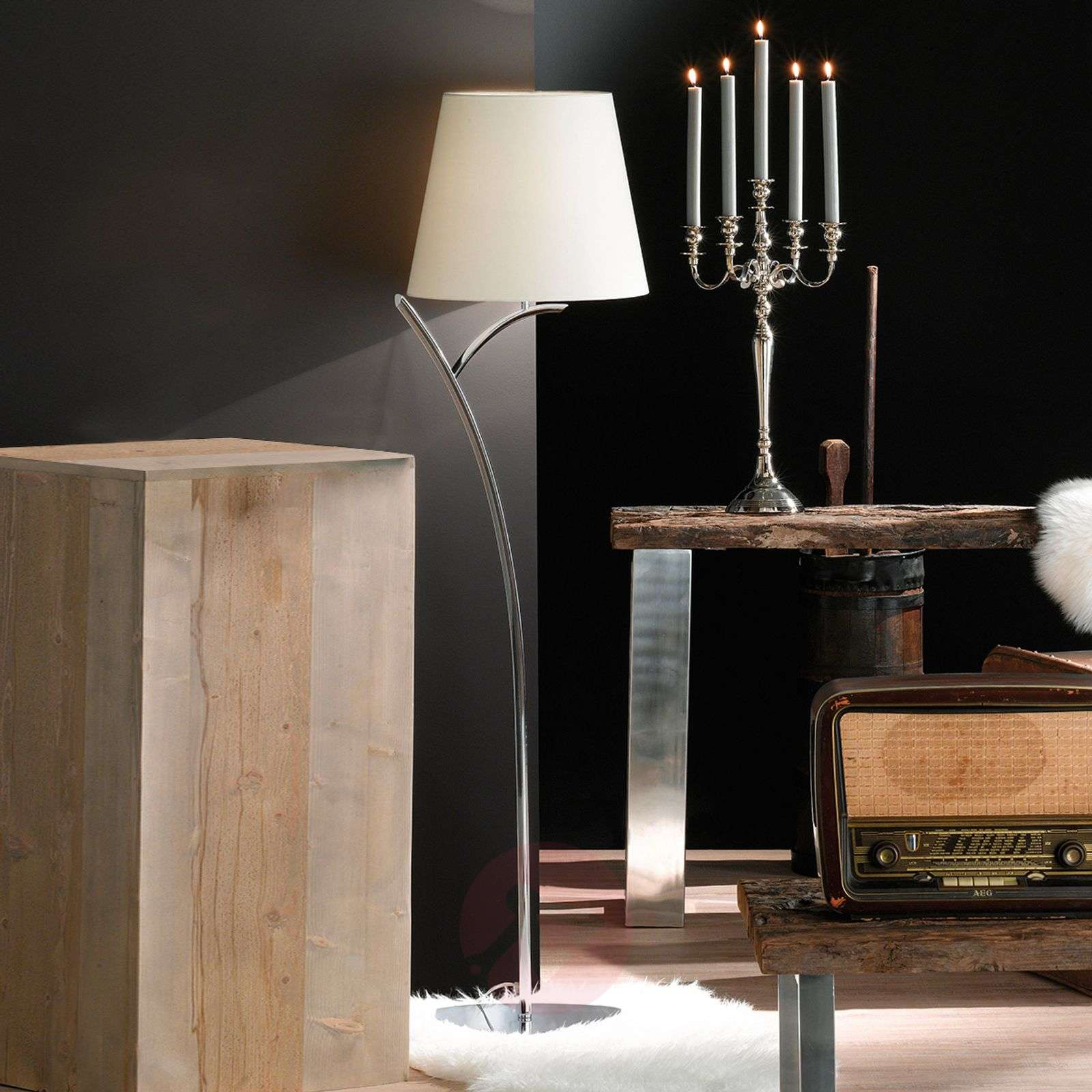 Classic floor lamp y with fabric lampshade lights classic floor lamp y with fabric lampshade 4581155 01 aloadofball Choice Image