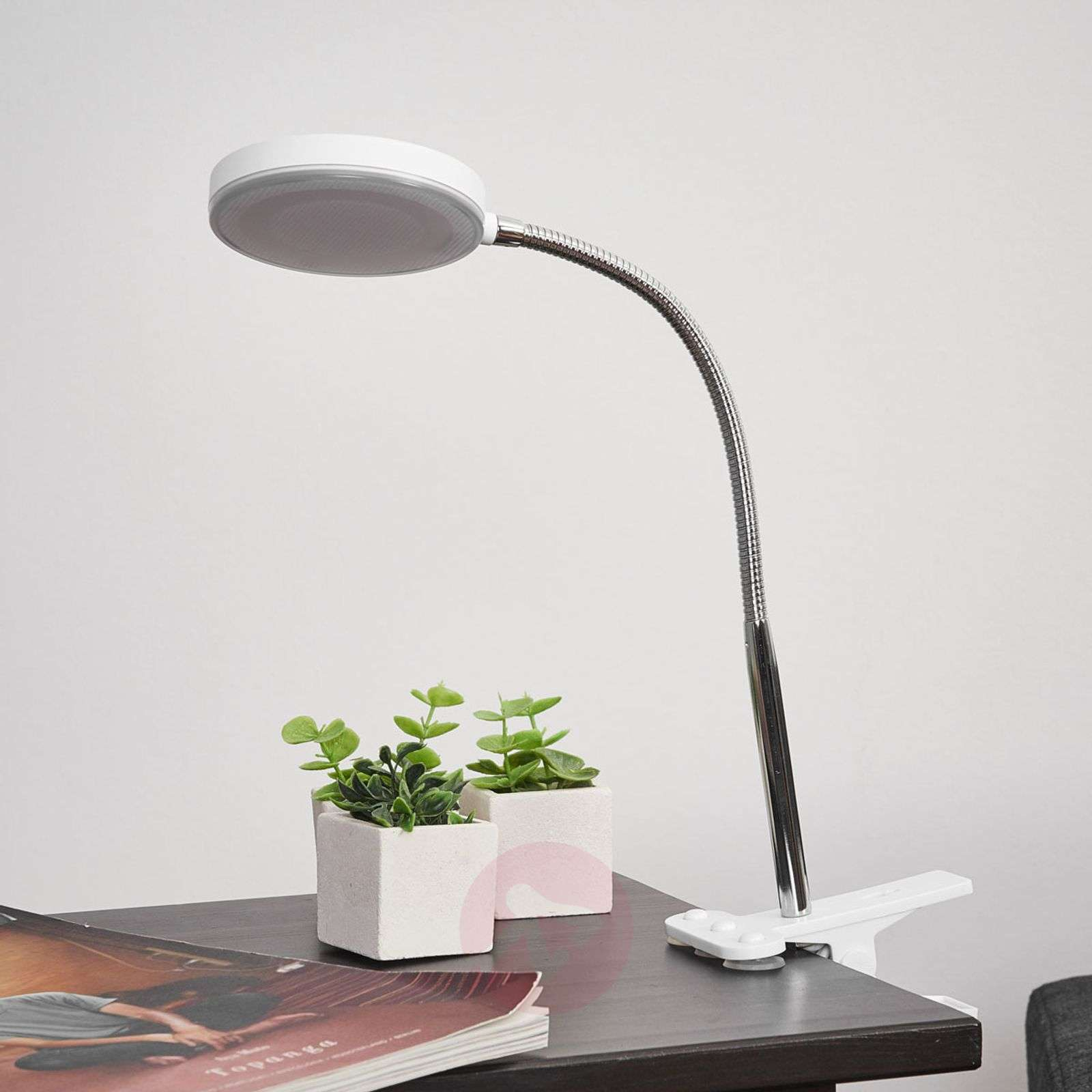 Clip-on table lamp Milow with LED and flexible arm-9643027-02