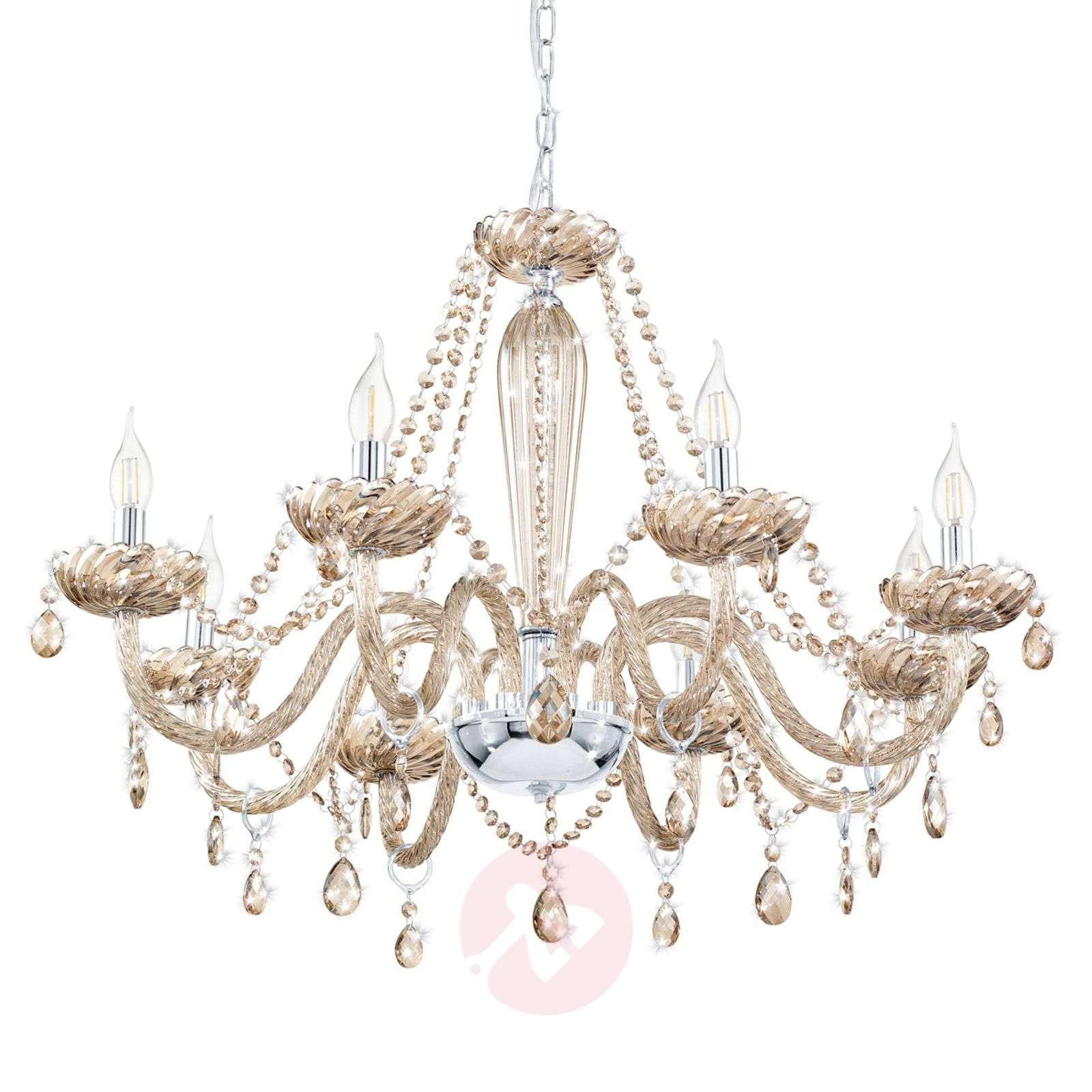 hot sale online 9d750 99656 Cognac-coloured glass Basilano chandelier