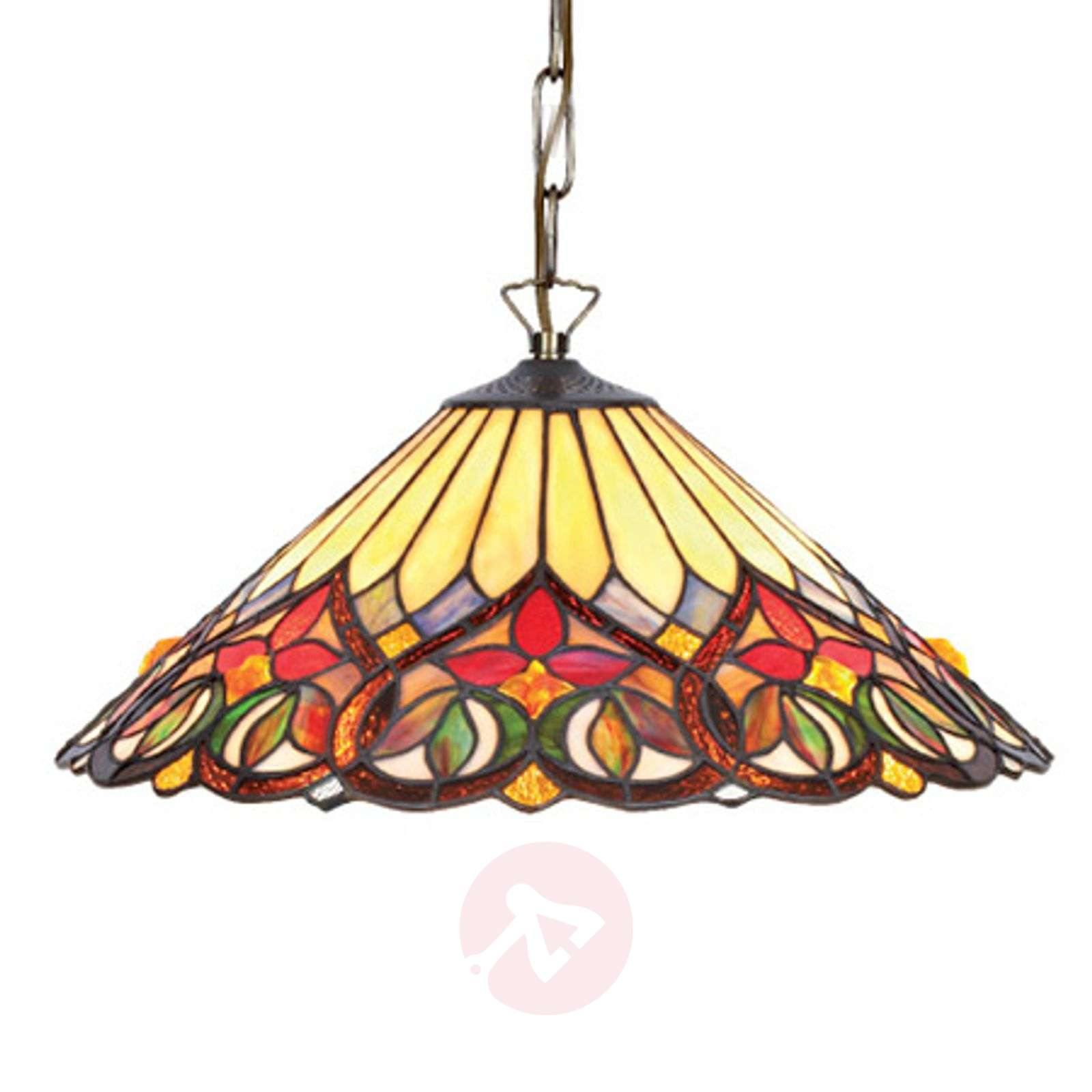 Colourful glass hanging light Anni, Tiffany style-1032325-01