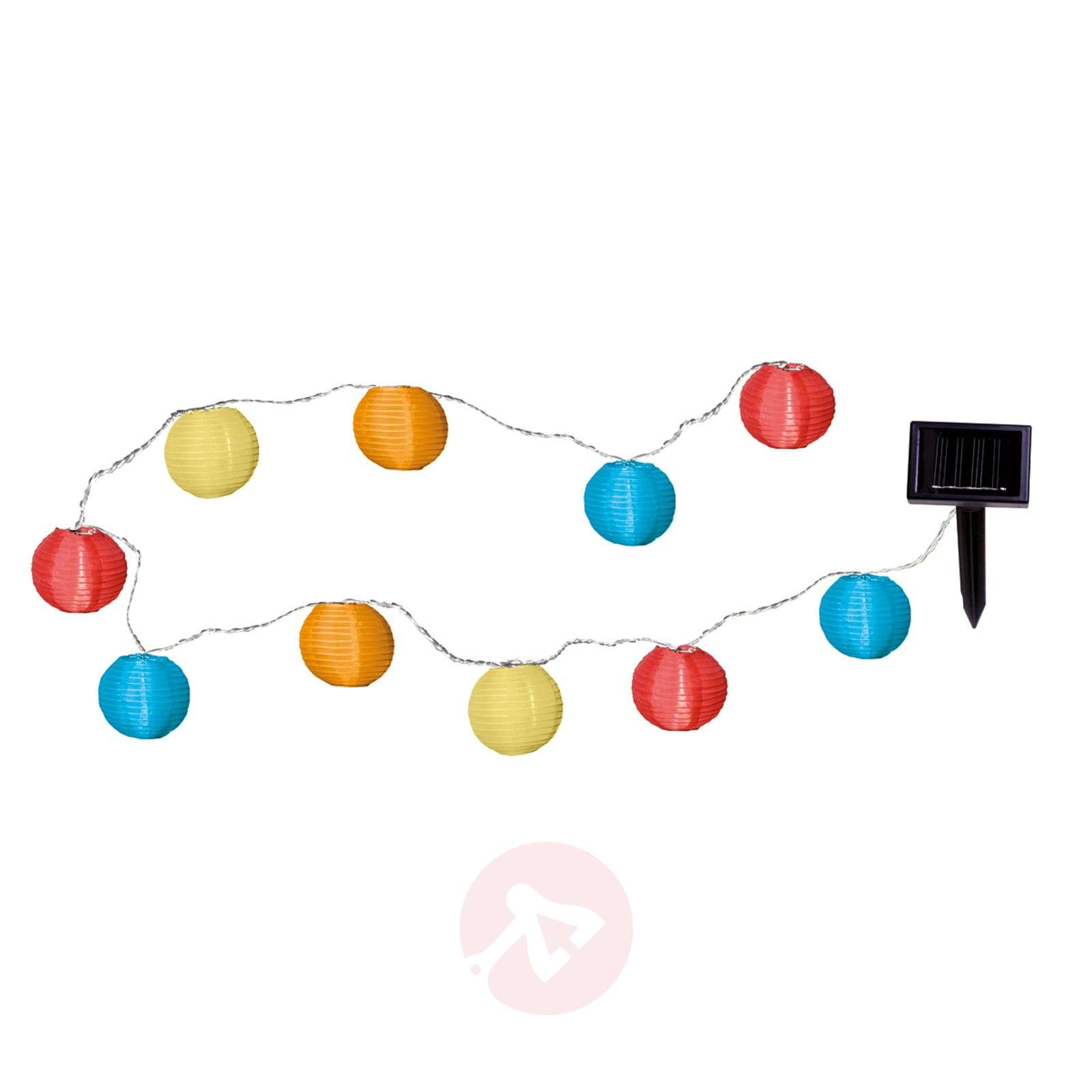 Colourful LED solar string light with 10 lampions-1522130-01