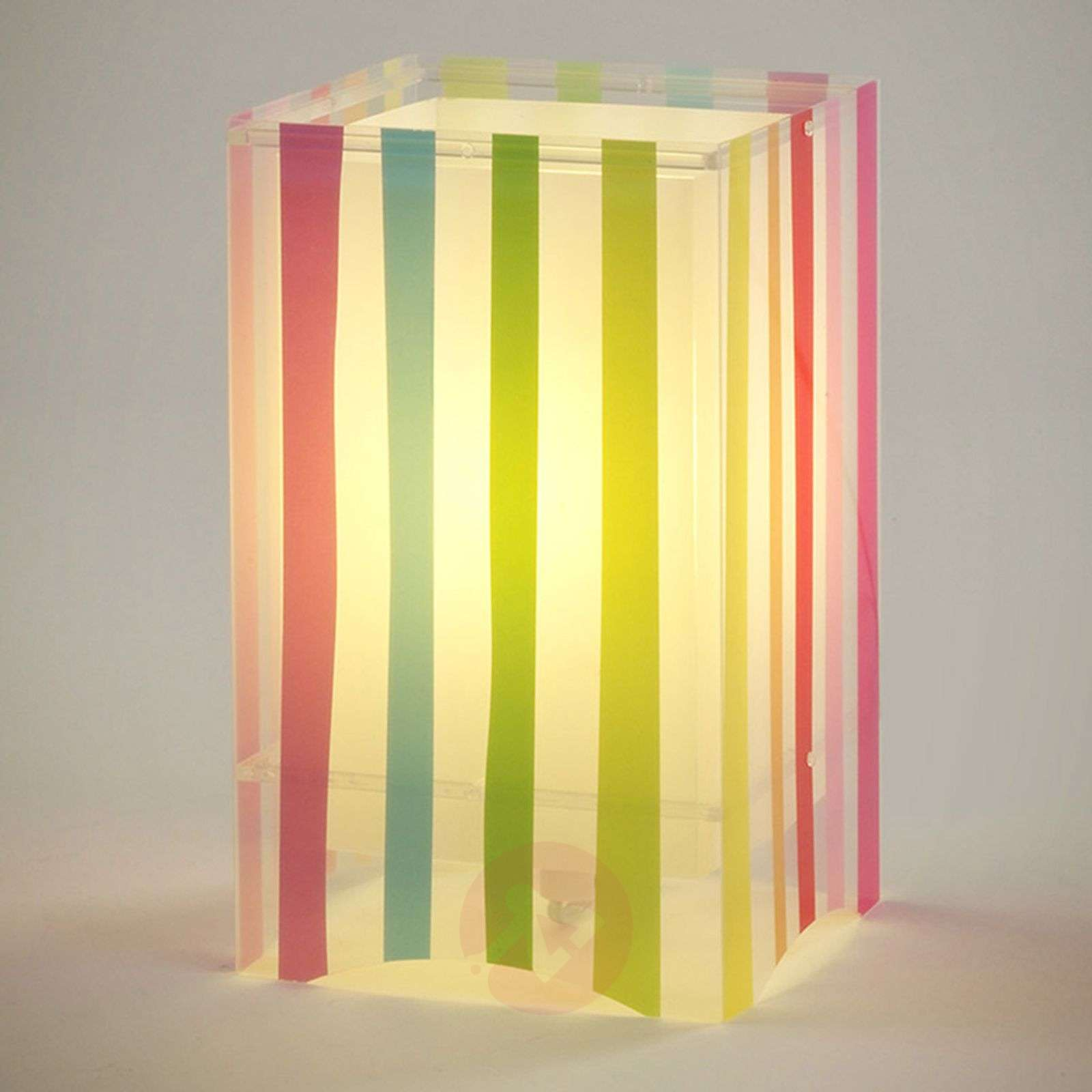 Colourful striped children's table lamp Decoline-2507331-01
