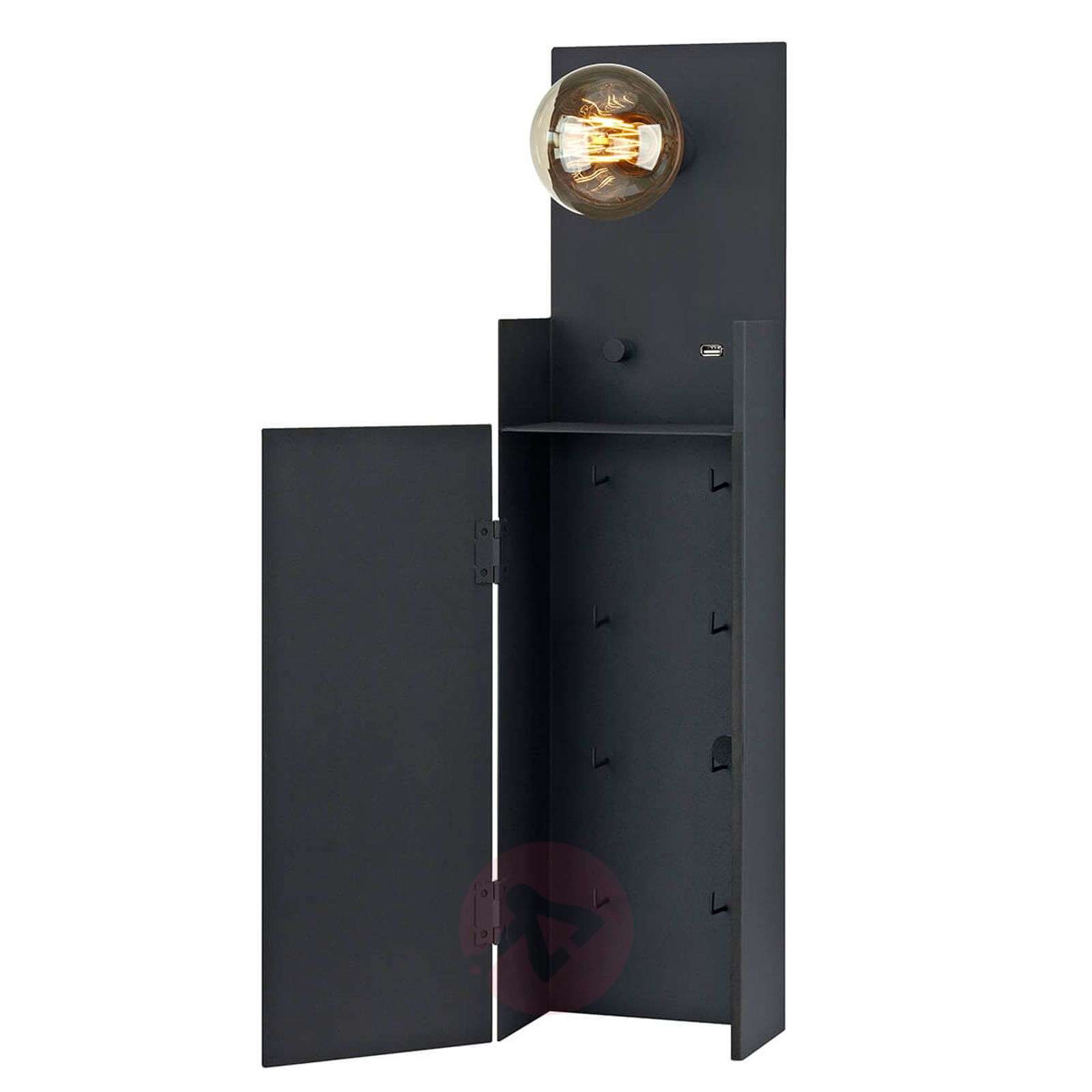 Combo wall lamp with key cabinet and USB point.-6506161-01