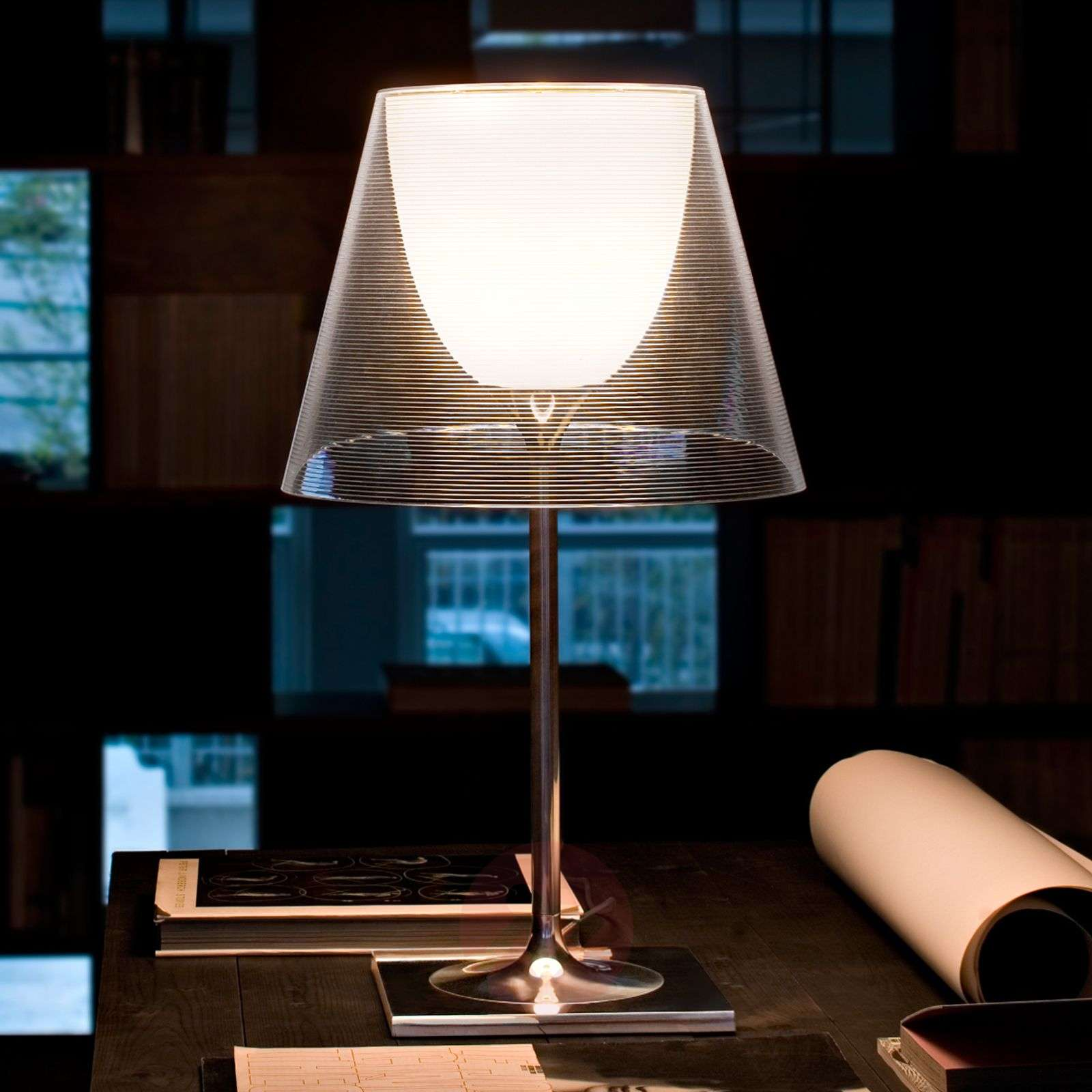 Contemporary table lamp KTRIBE T2, dual lampshade-3510104X-05