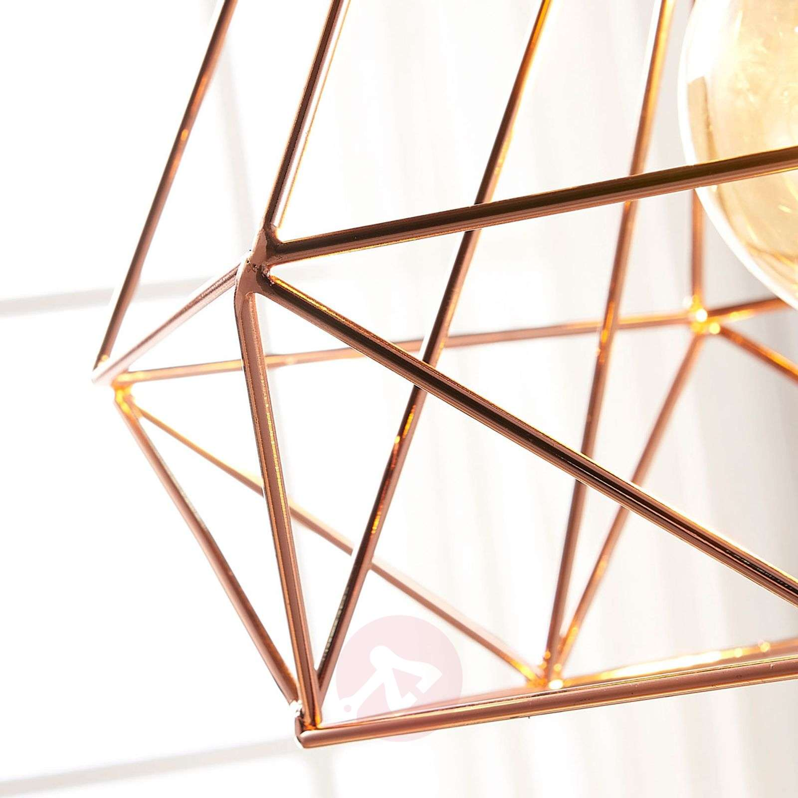 Copper-coloured cage pendant light Jossa-9621153-02