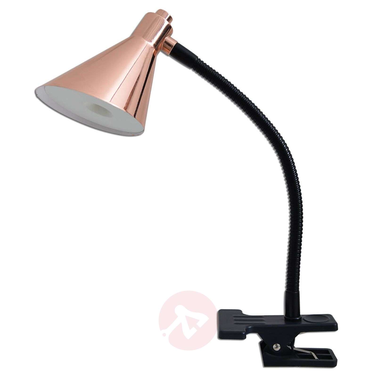 Copper-coloured LED clip light Janita-7000746-01