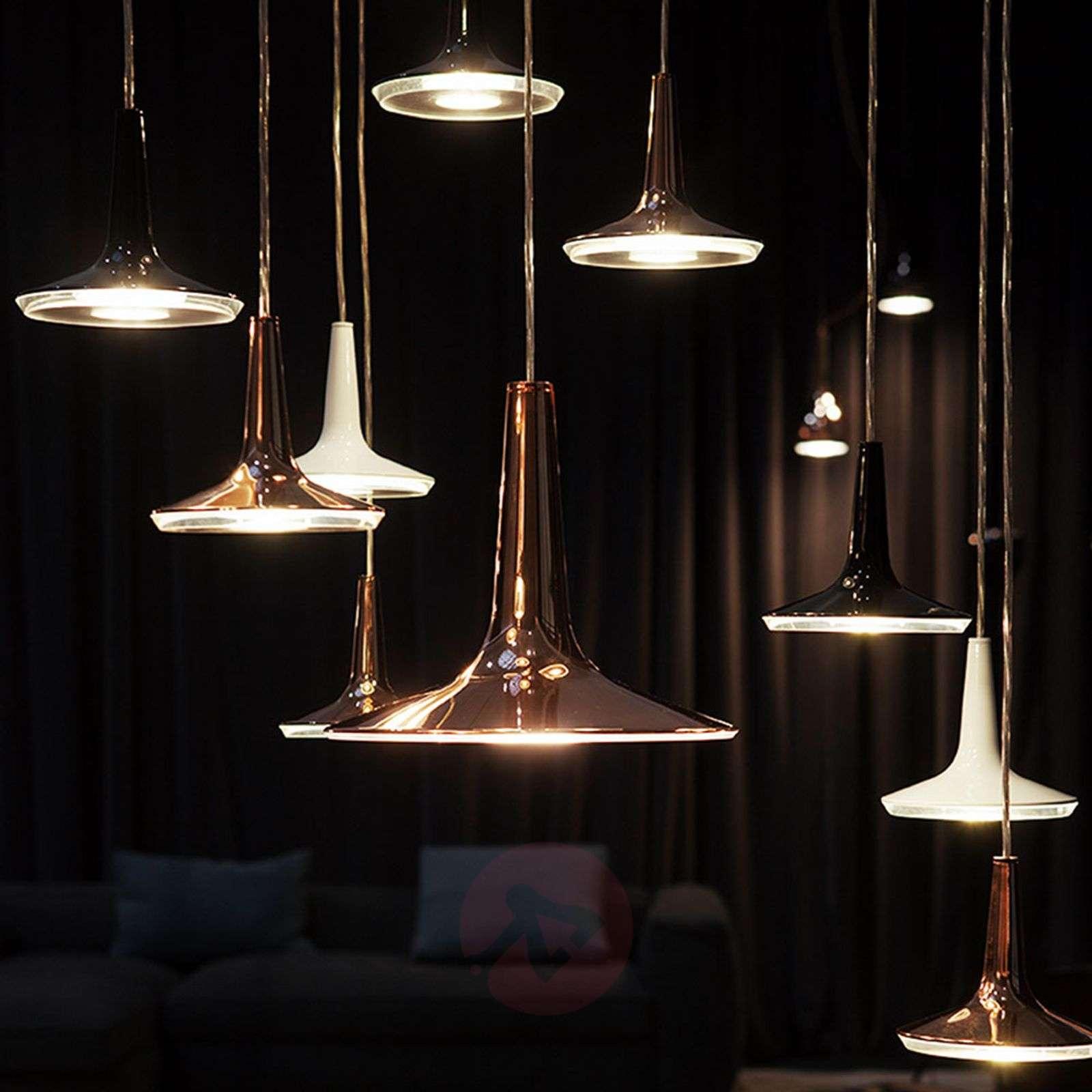 Copper-coloured LED hanging light Kin, 15 cm-7265086-01