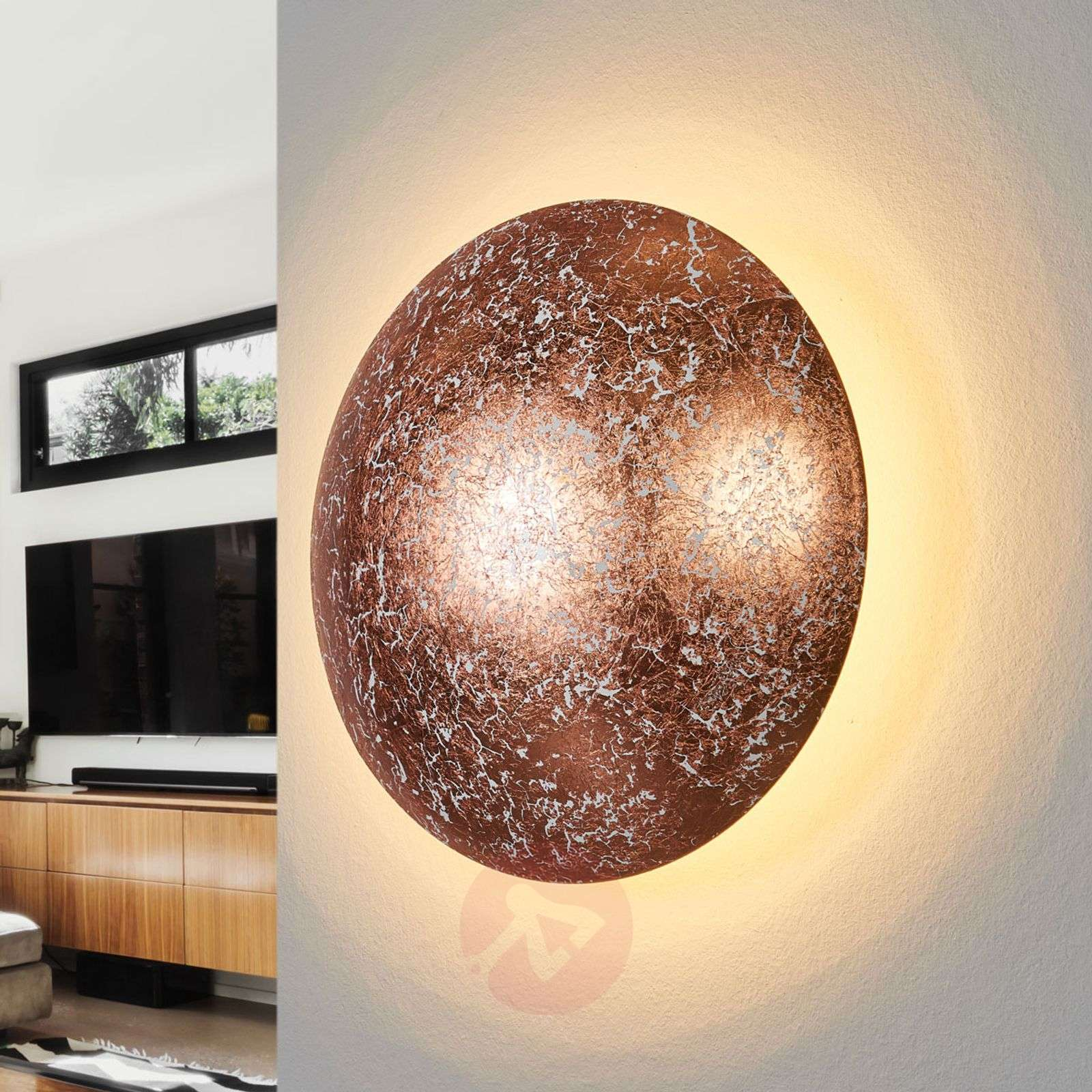 Copper coloured LED wall light Chiros-9005255-01