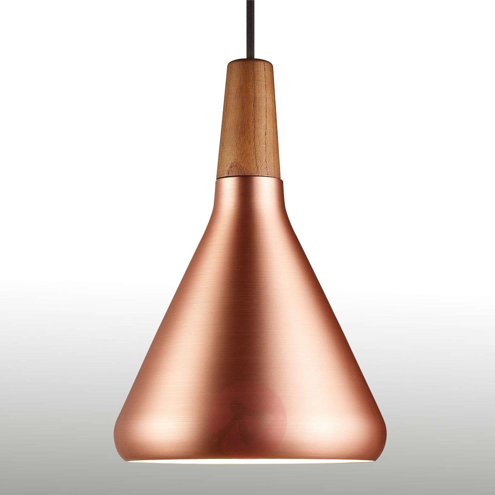 Copper coloured pendant lamp Float 18 cm-7005901-02